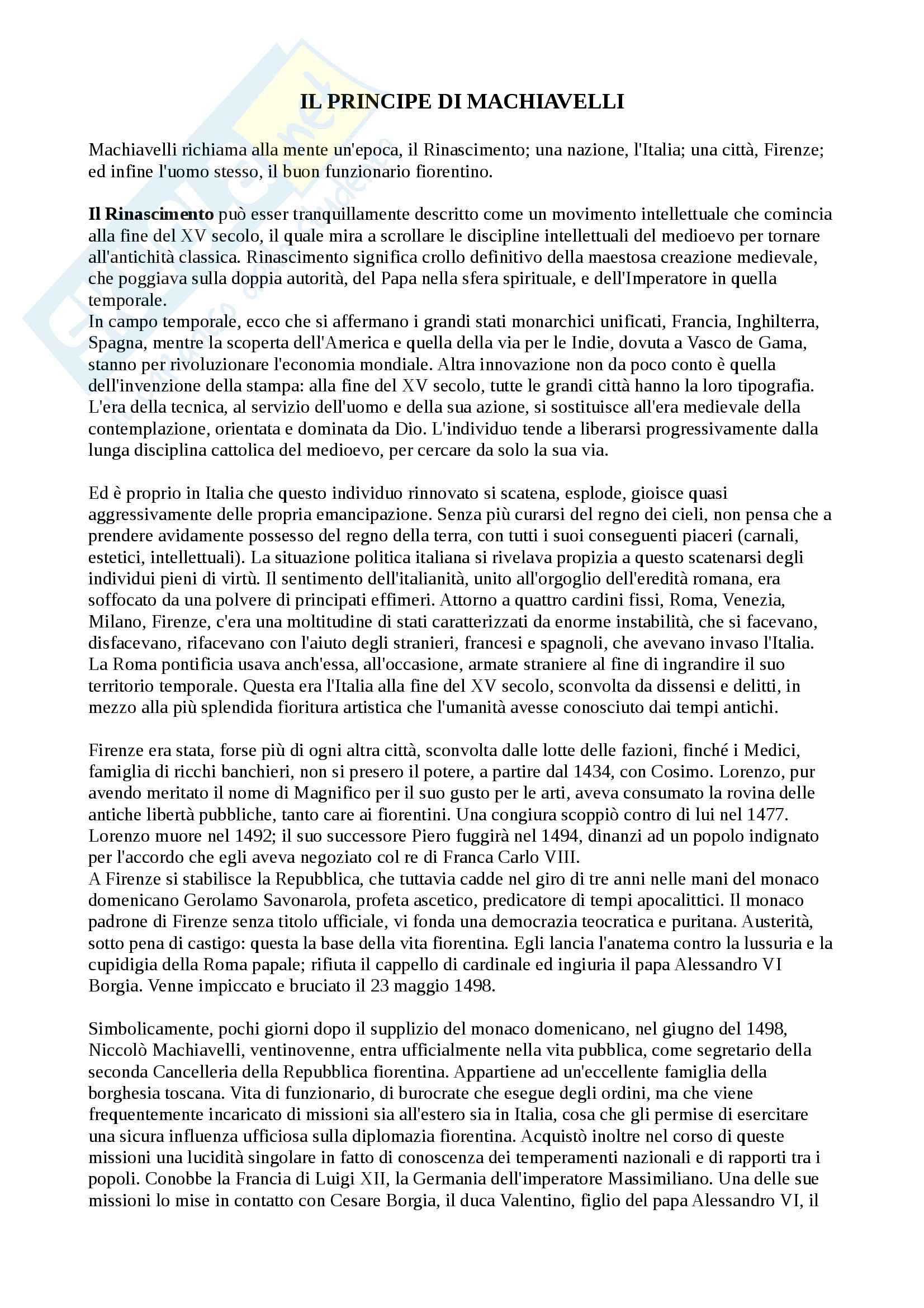 """Riassunto esame Storia delle dottrine politiche, prof. Modugno, libro consigliato """"Le grandi opere del pensiero politico"""", Chevallier"""