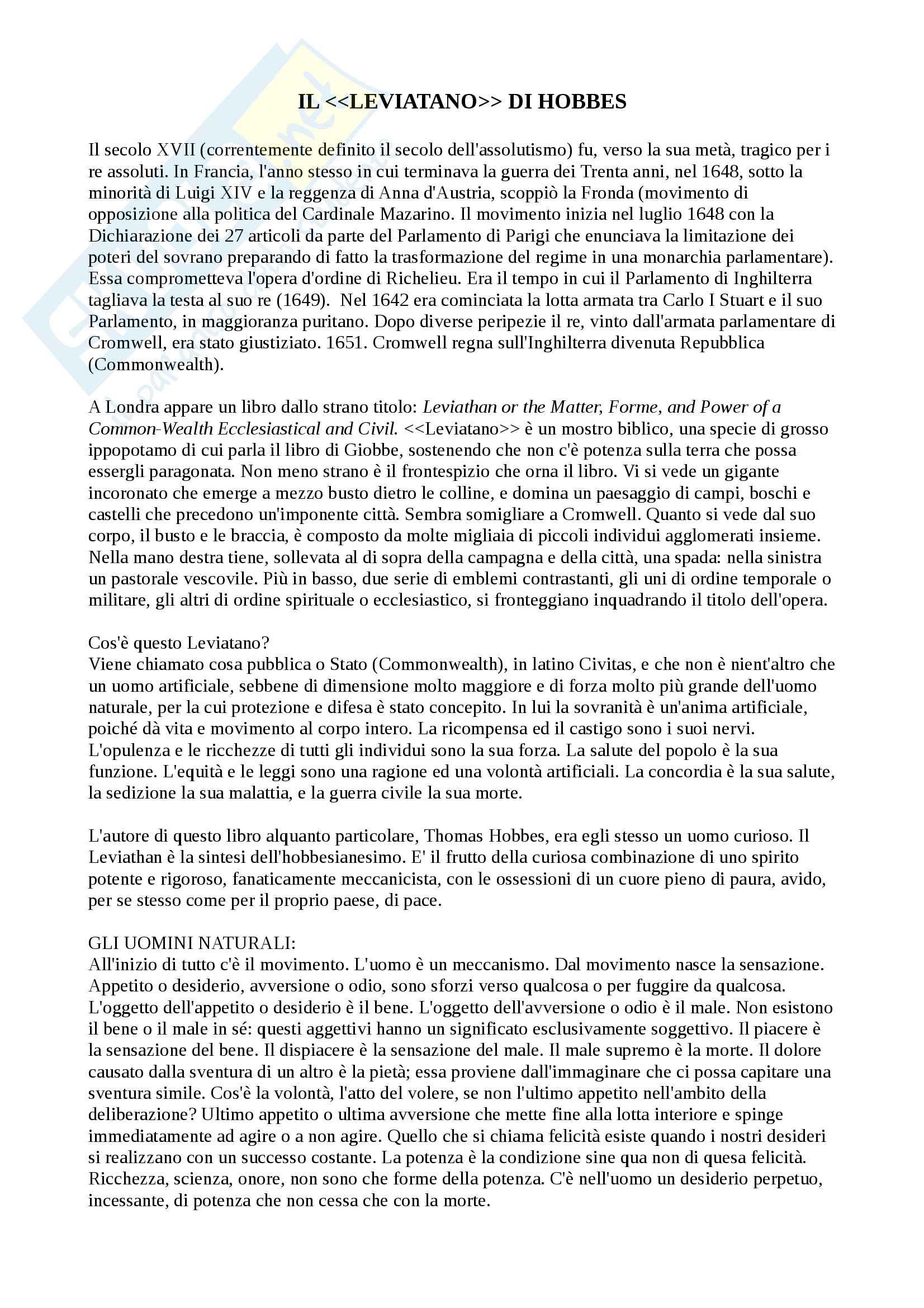"""Riassunto esame Storia delle dottrine politiche, prof. Modugno, libro consigliato """"Le grandi opere del pensiero politico"""", Chevallier Pag. 11"""