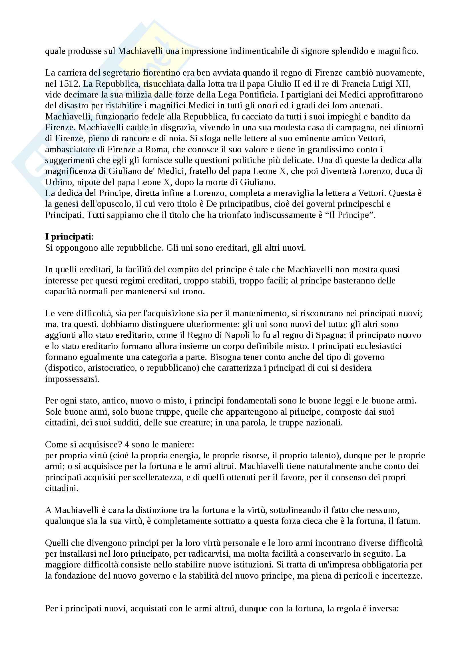 """Riassunto esame Storia delle dottrine politiche, prof. Modugno, libro consigliato """"Le grandi opere del pensiero politico"""", Chevallier Pag. 2"""
