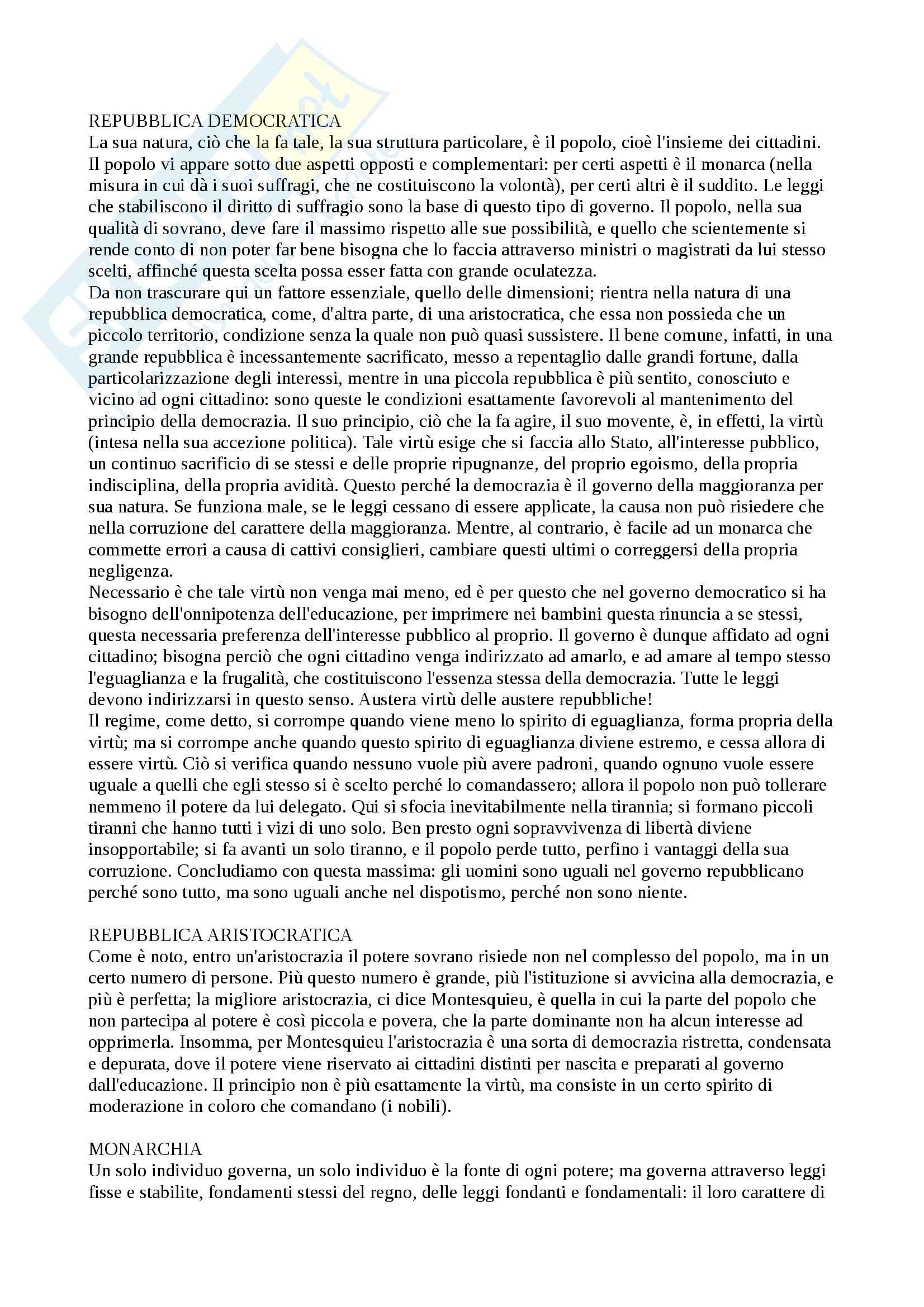 """Riassunto esame Storia delle dottrine politiche, prof. Modugno, libro consigliato """"Le grandi opere del pensiero politico"""", Chevallier Pag. 31"""