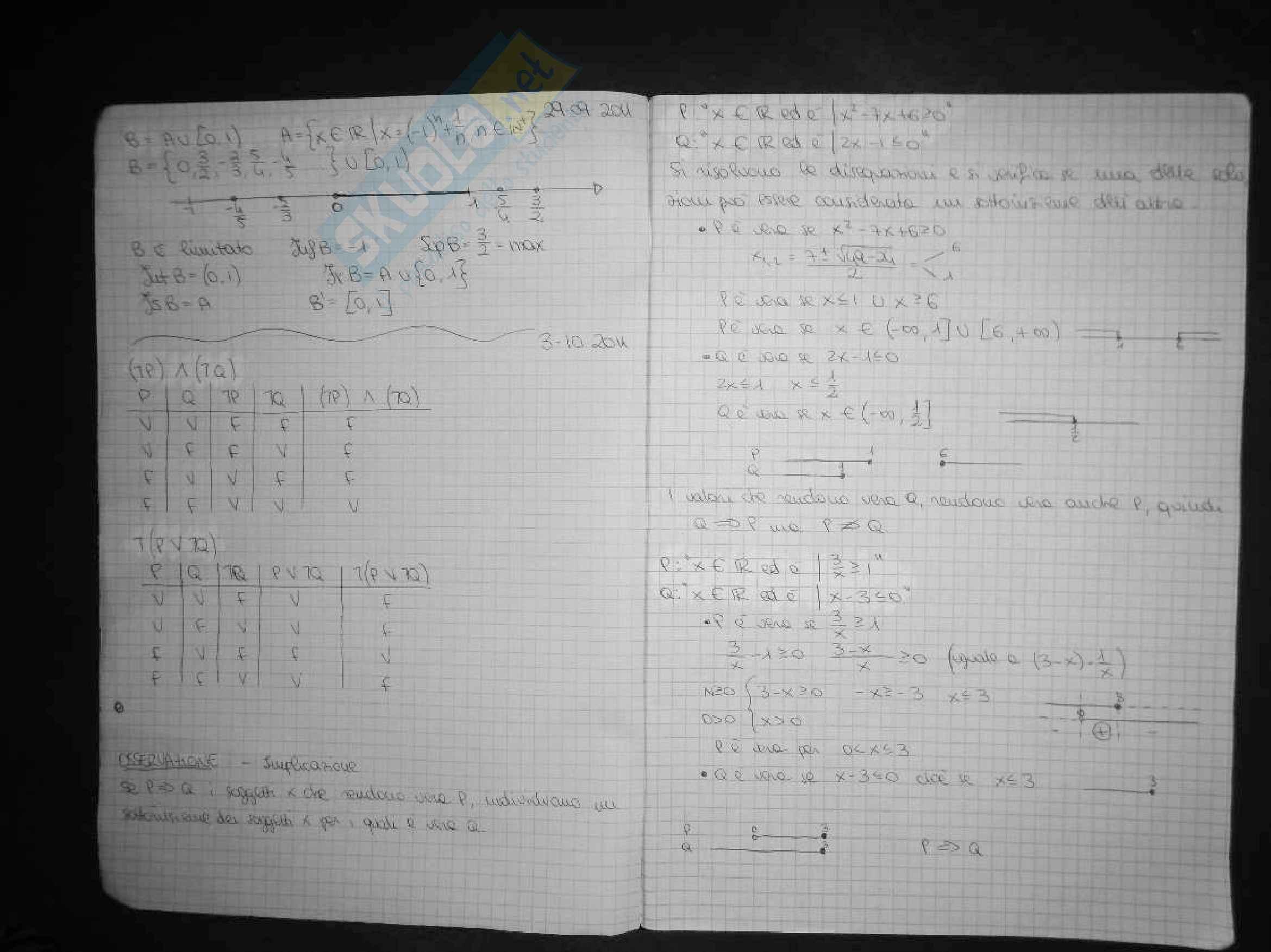 Esercitazioni matematica generale Pag. 2