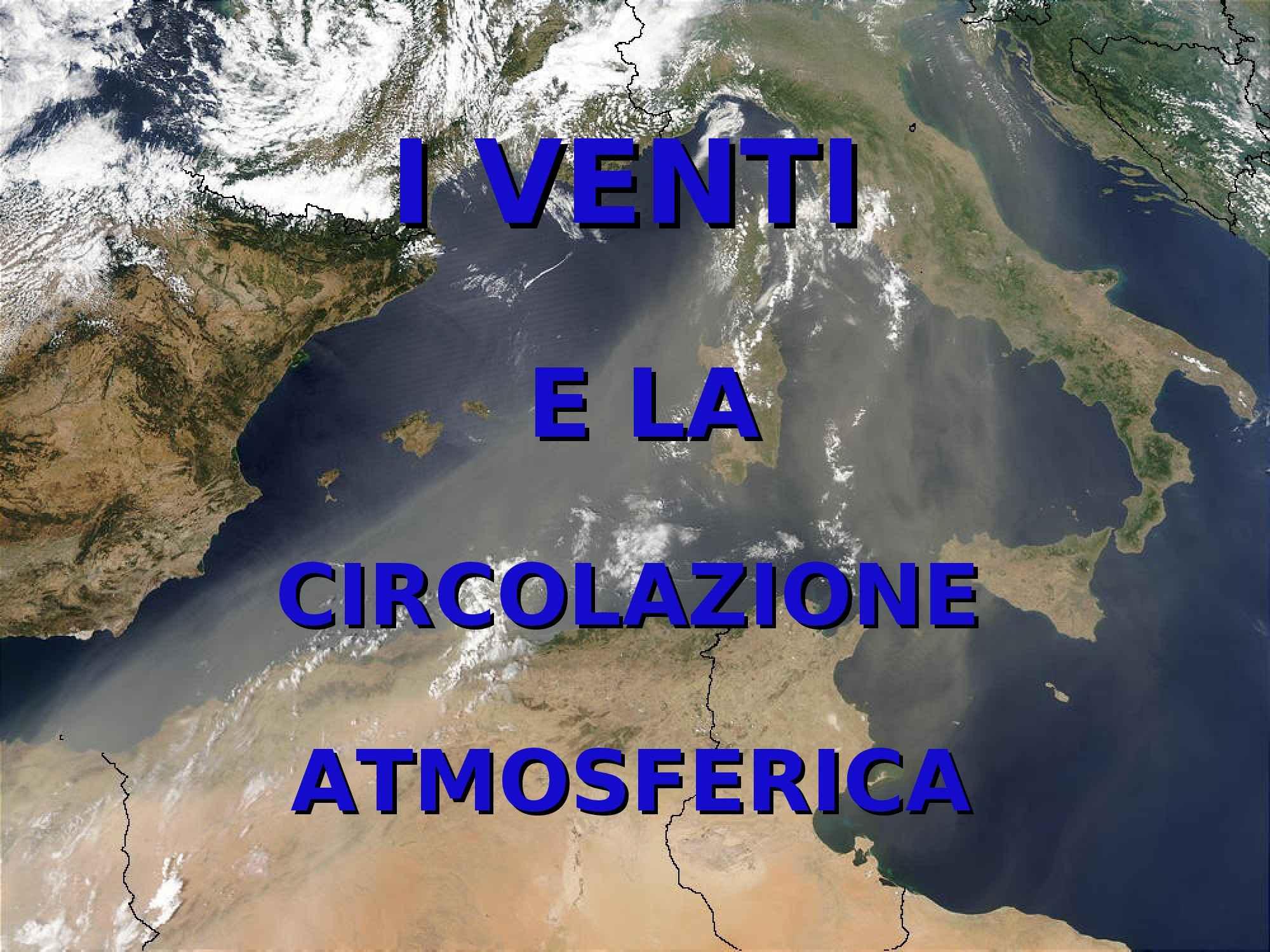 Venti e circolazione atmosferica