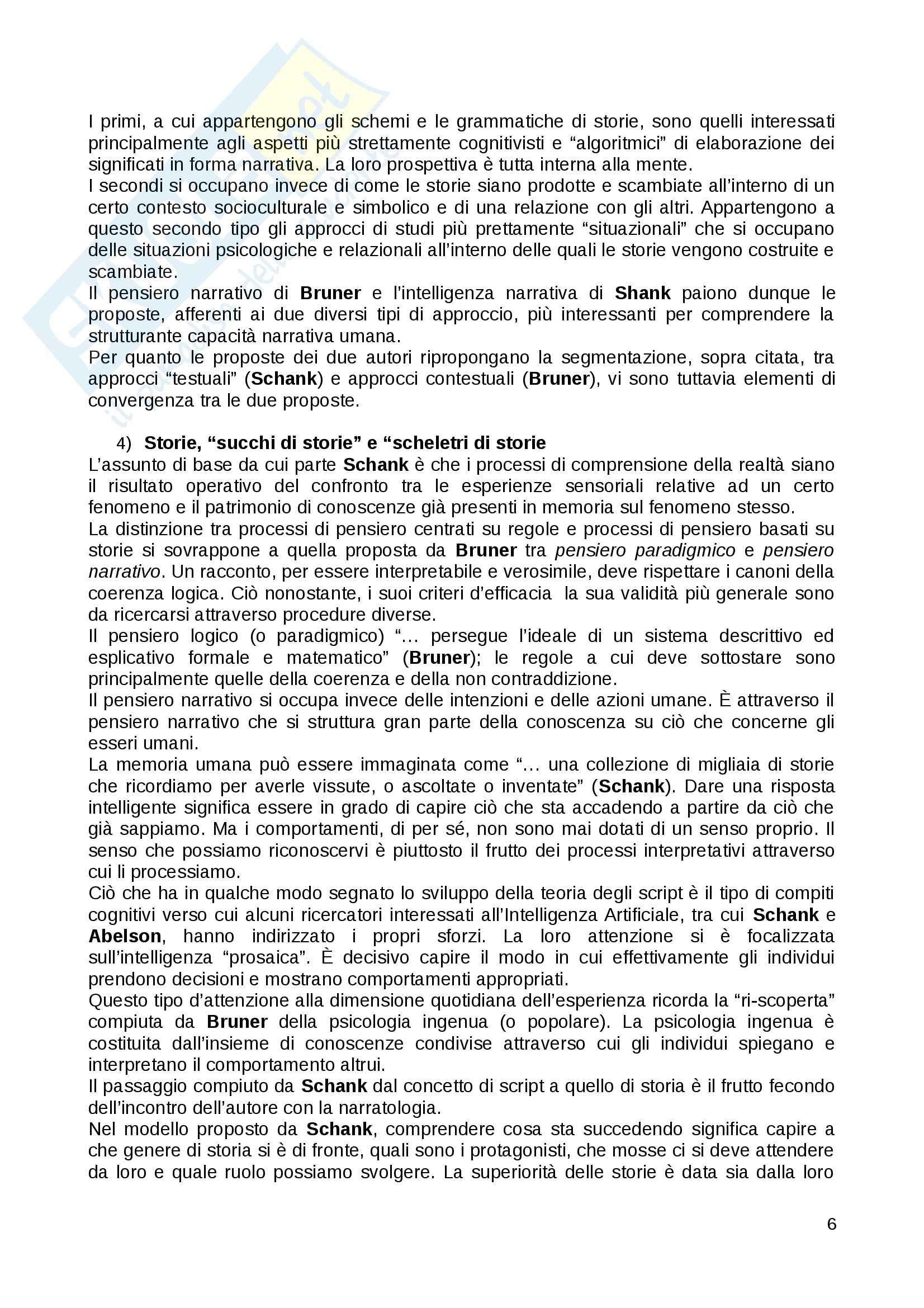 Riassunto esame Ricerca sociale, prof. Di Fraia, libro consigliato Storie confuse: Pensiero narrativo, sociologia e media Pag. 6