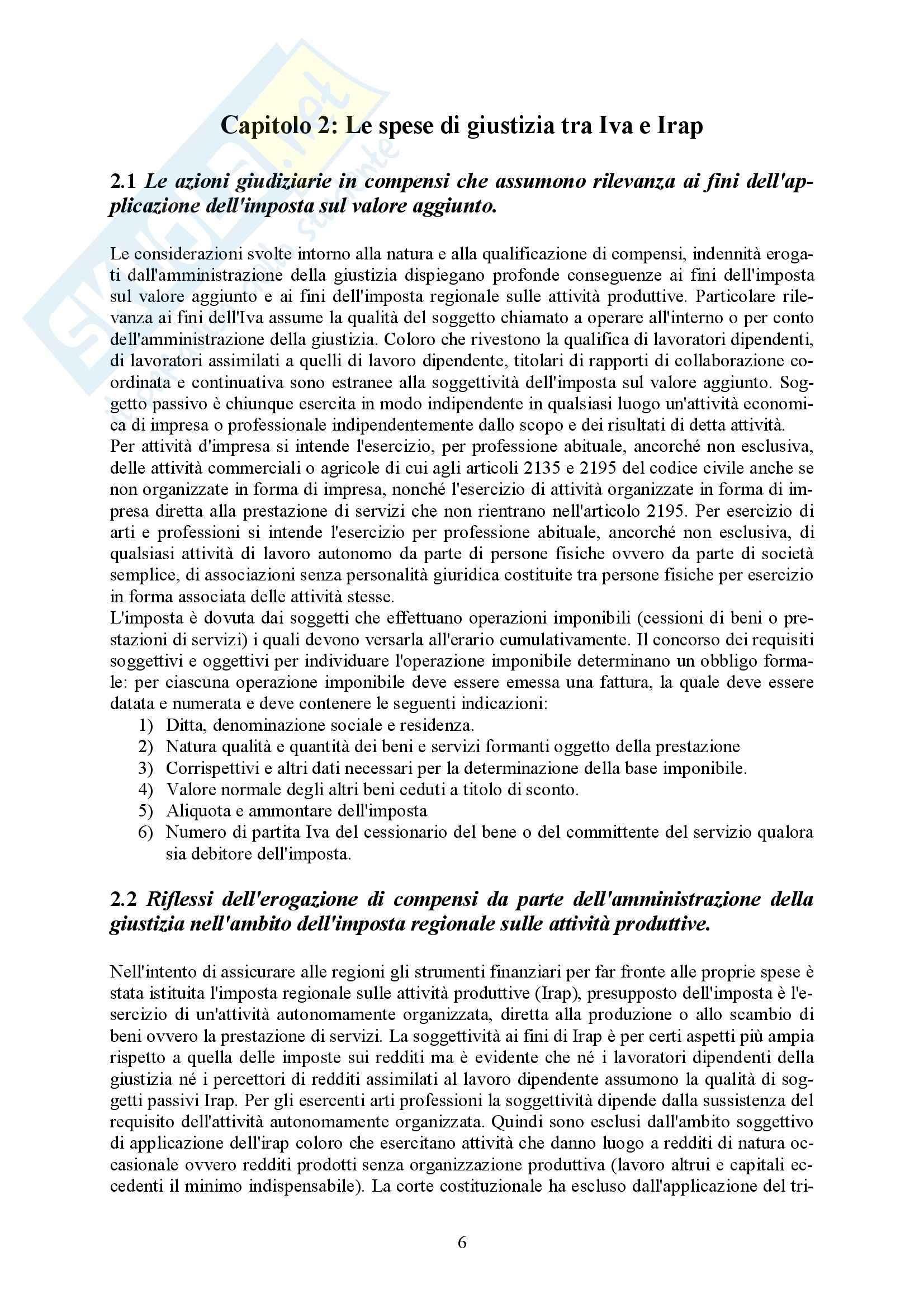Riassunto esame Diritto Tributario, prof. Uricchio, libro consigliato Attività giudiziaria e imposizione tributaria Pag. 6