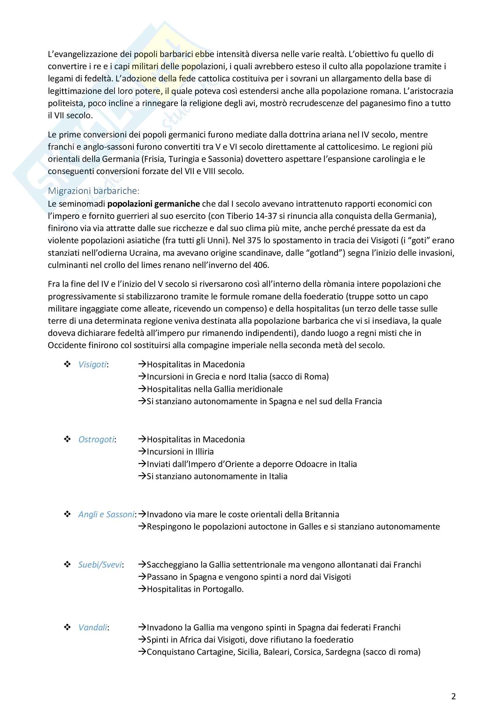 Riassunto esame Storia Medievale, prof. Zorzi, libro consigliato Manuale di Storia Medievale, Zorzi Pag. 2