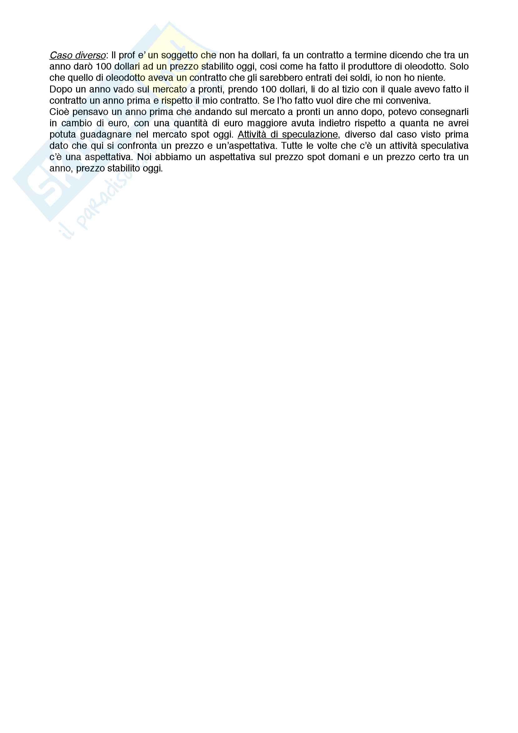 Riassunto Politica Monetaria - Ciccarone Pag. 31