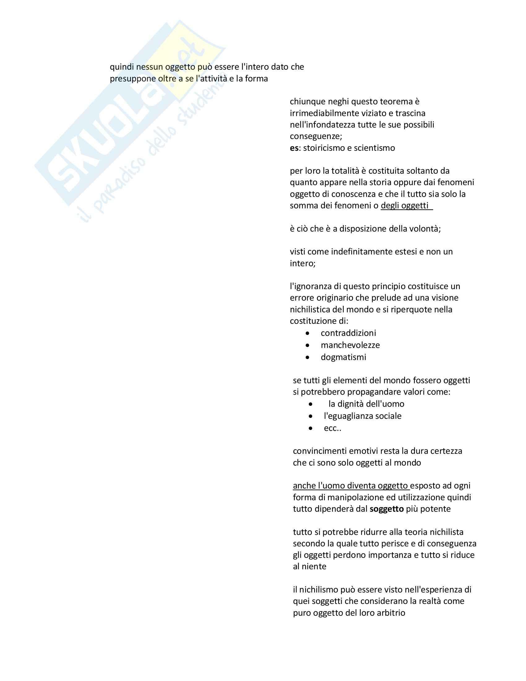 Riassunto esame Filosofia del diritto, prof. Sommaggio, libro consigliato All'origine del diritto al tramonto della legge, Cavalla, Prima parte Pag. 2