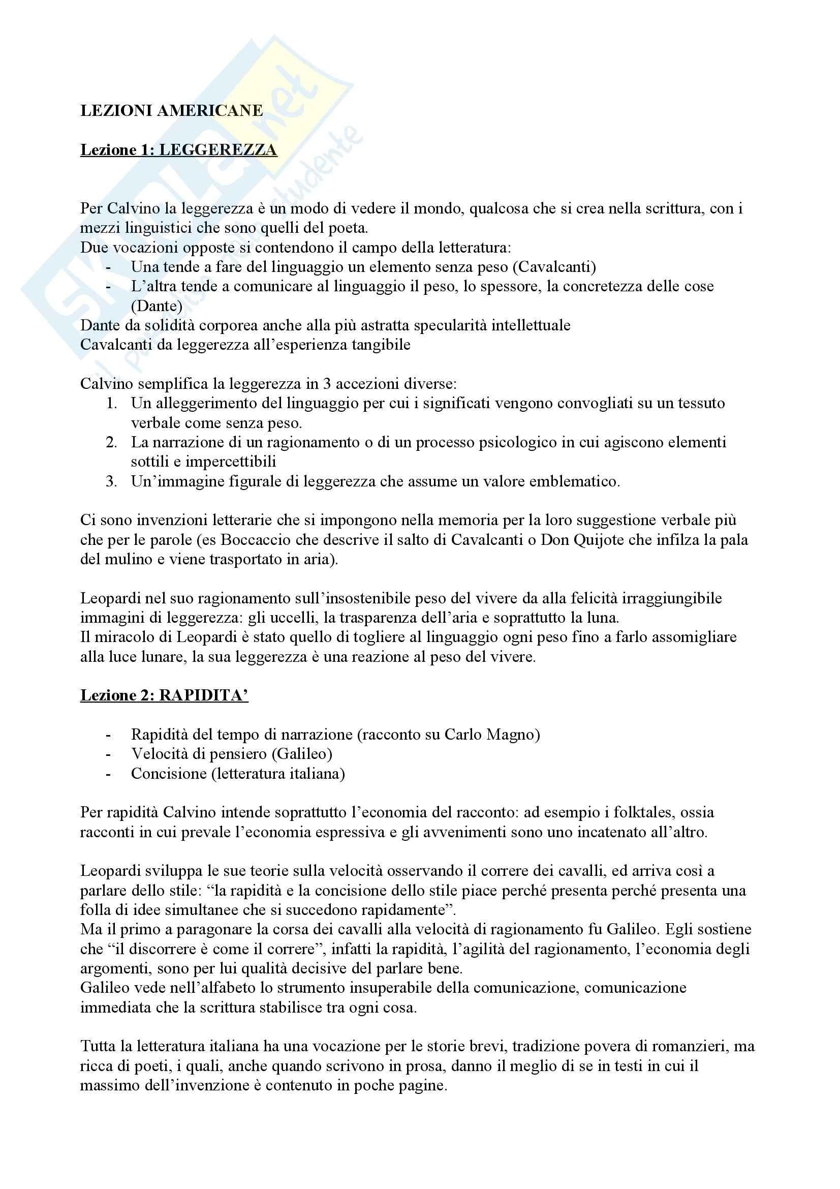 appunto P. Scienze letterarie Letteratura Italiana