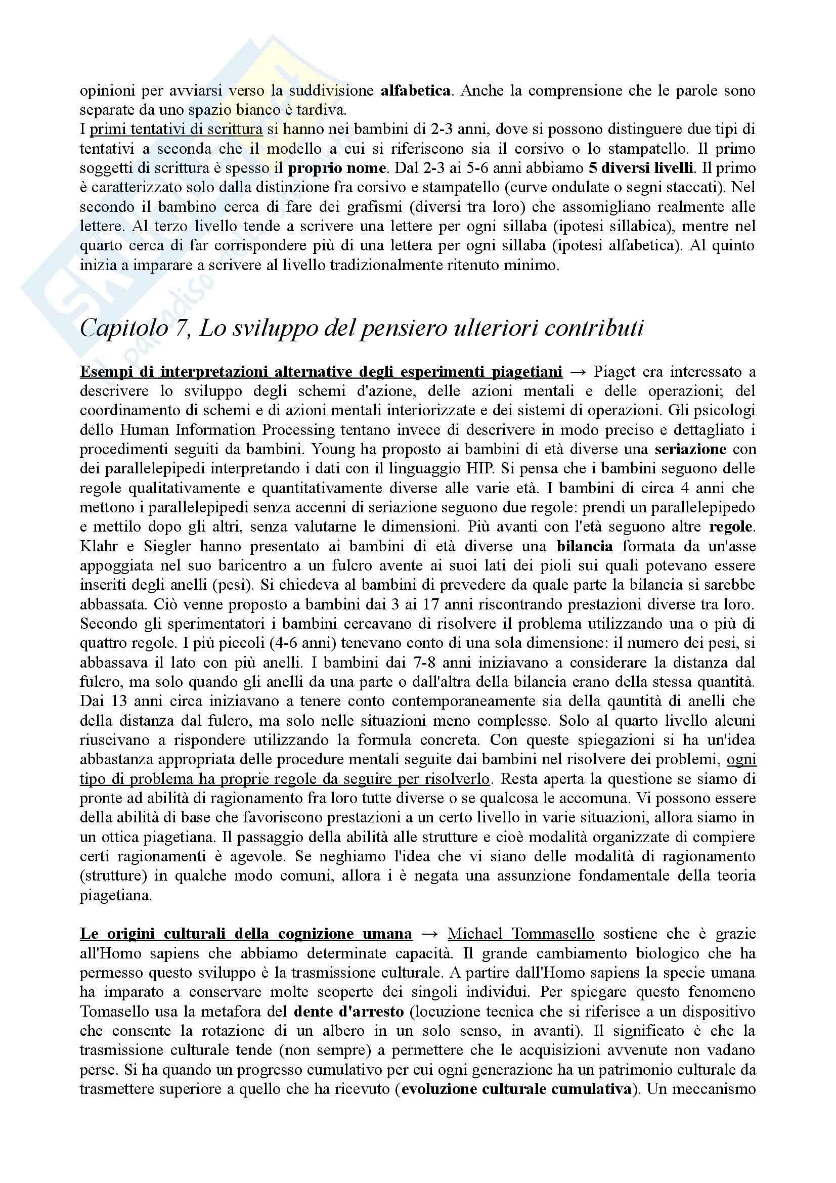Riassunto esame Psicologia dello Sviluppo, prof. Vianello, libro consigliato Psicologia dello Sviluppo Pag. 21