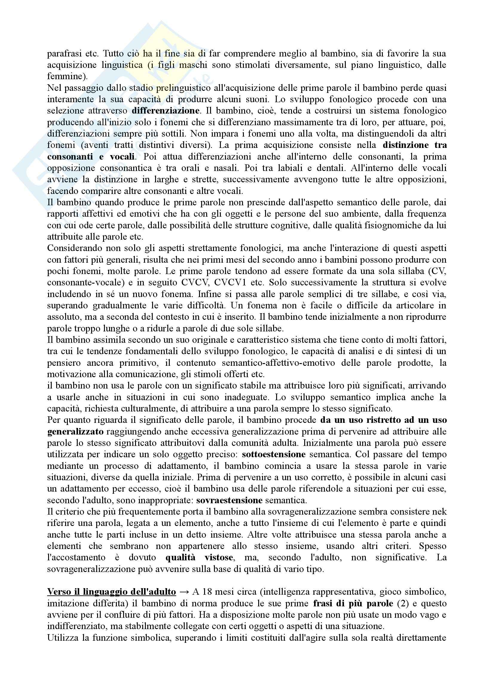 Riassunto esame Psicologia dello Sviluppo, prof. Vianello, libro consigliato Psicologia dello Sviluppo Pag. 41