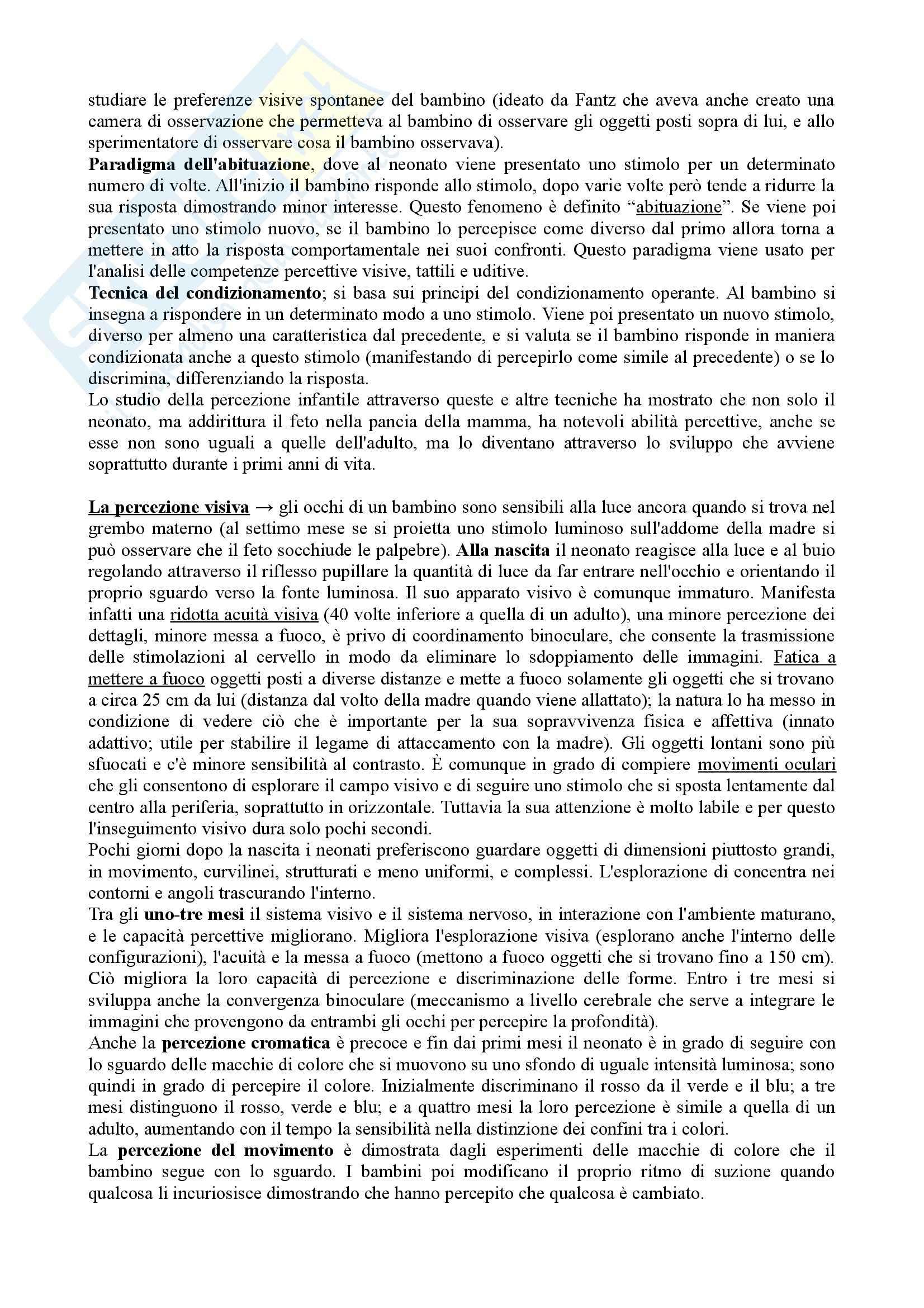Riassunto esame Psicologia dello Sviluppo, prof. Vianello, libro consigliato Psicologia dello Sviluppo Pag. 6
