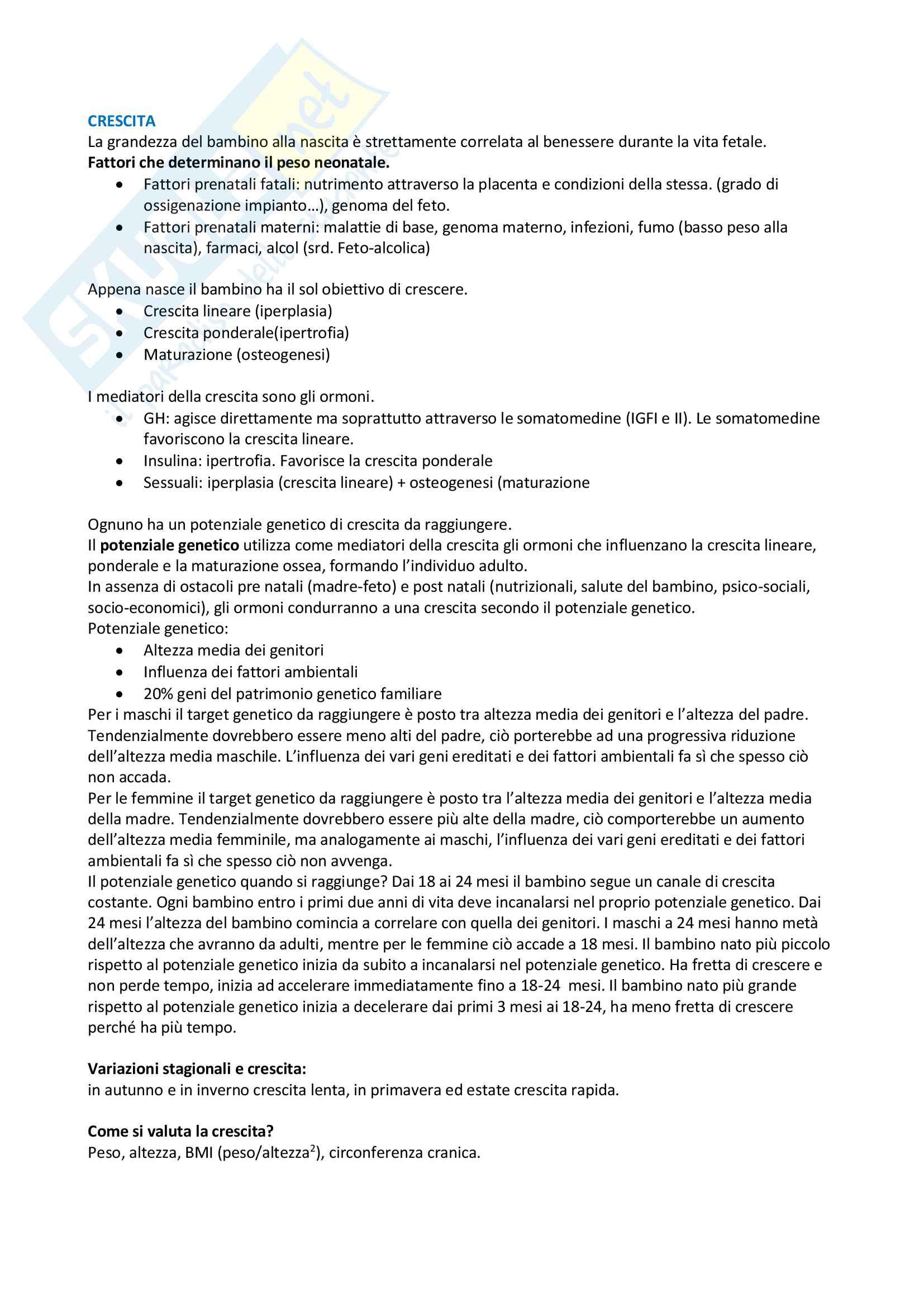 appunto A. Pusiol Pediatria