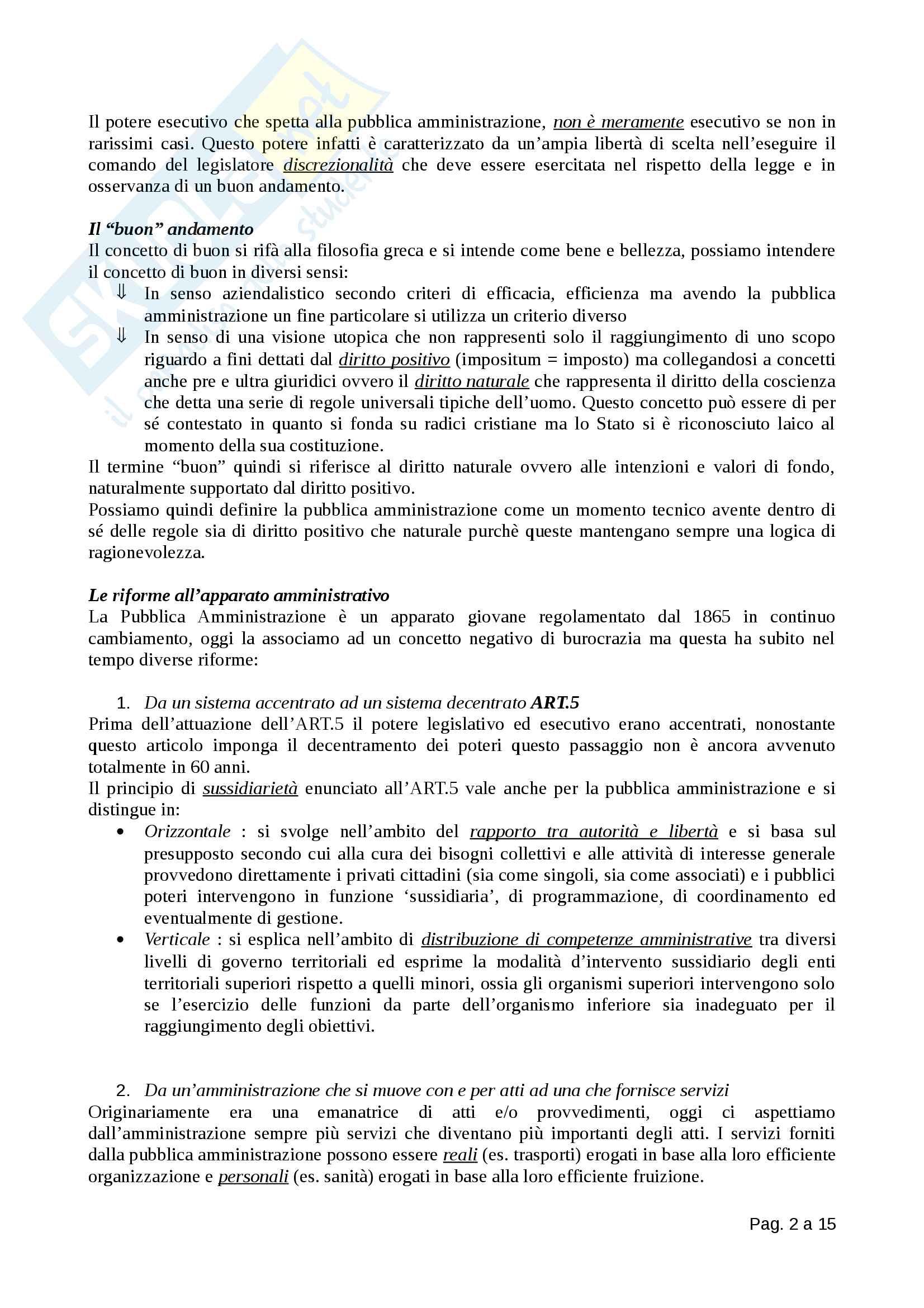 Diritto Amministrativo - Totale Pag. 2