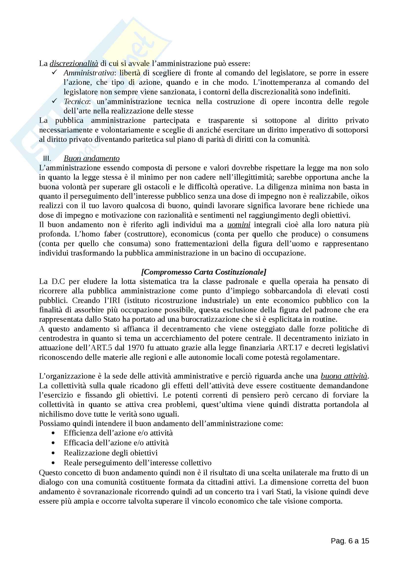 Diritto Amministrativo - Totale Pag. 6