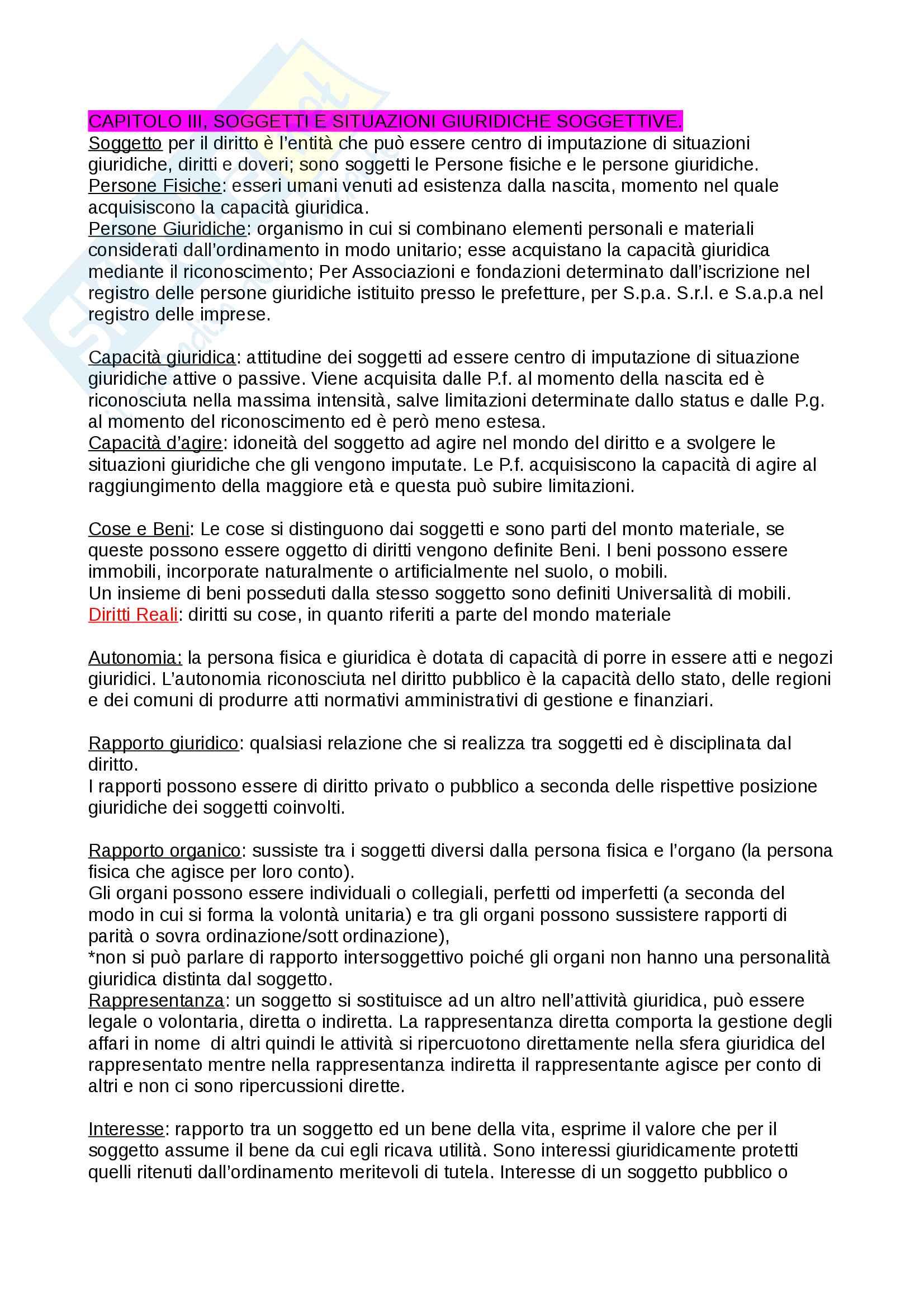 Riassunto esame Diritto pubblico, prof. Pellegrini/Sepe, libro consigliato Manuale di diritto pubblico, Claudio Rossano