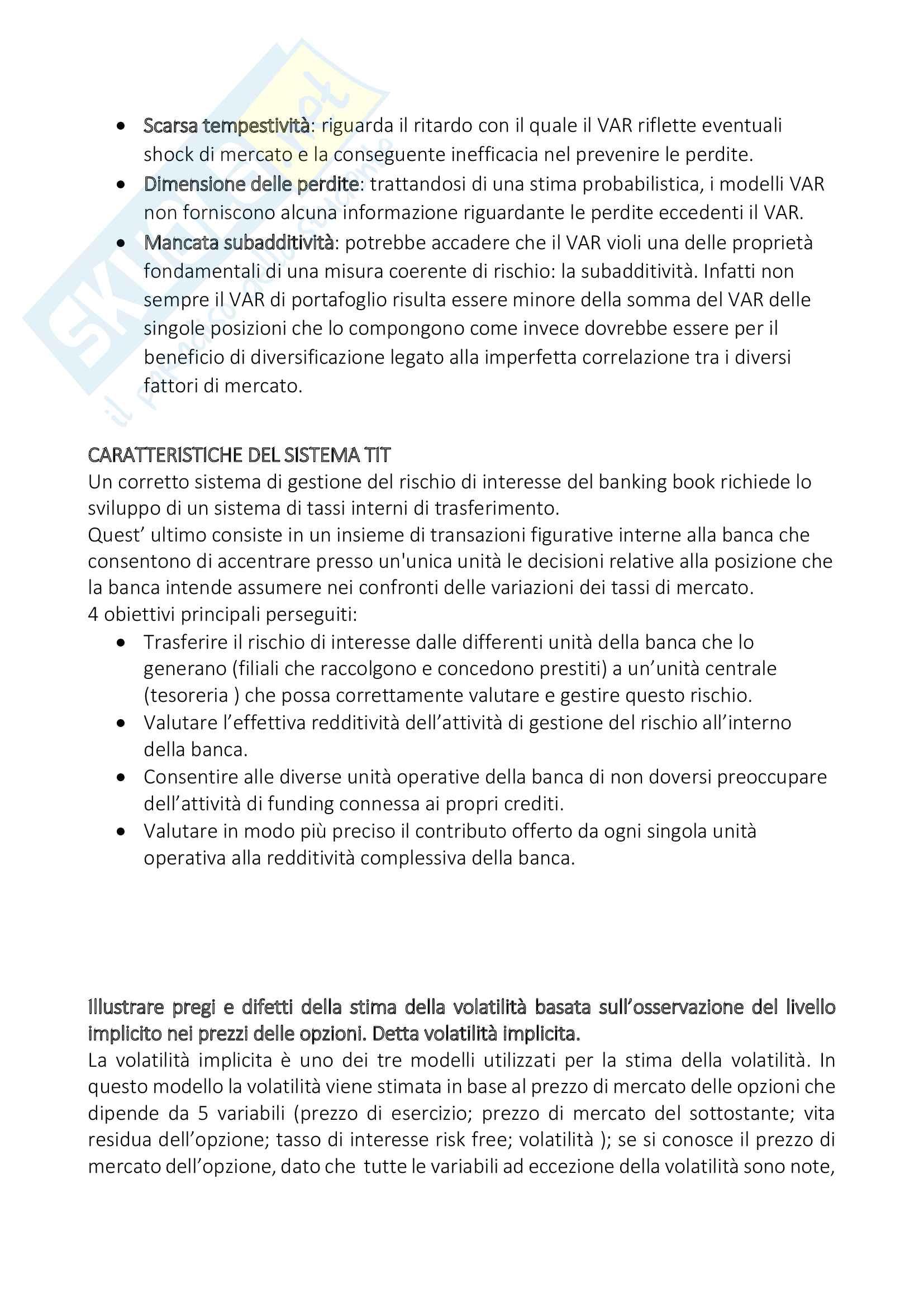 Risk Management: teoria, esercizi commentati e tracce d'esame Pag. 2