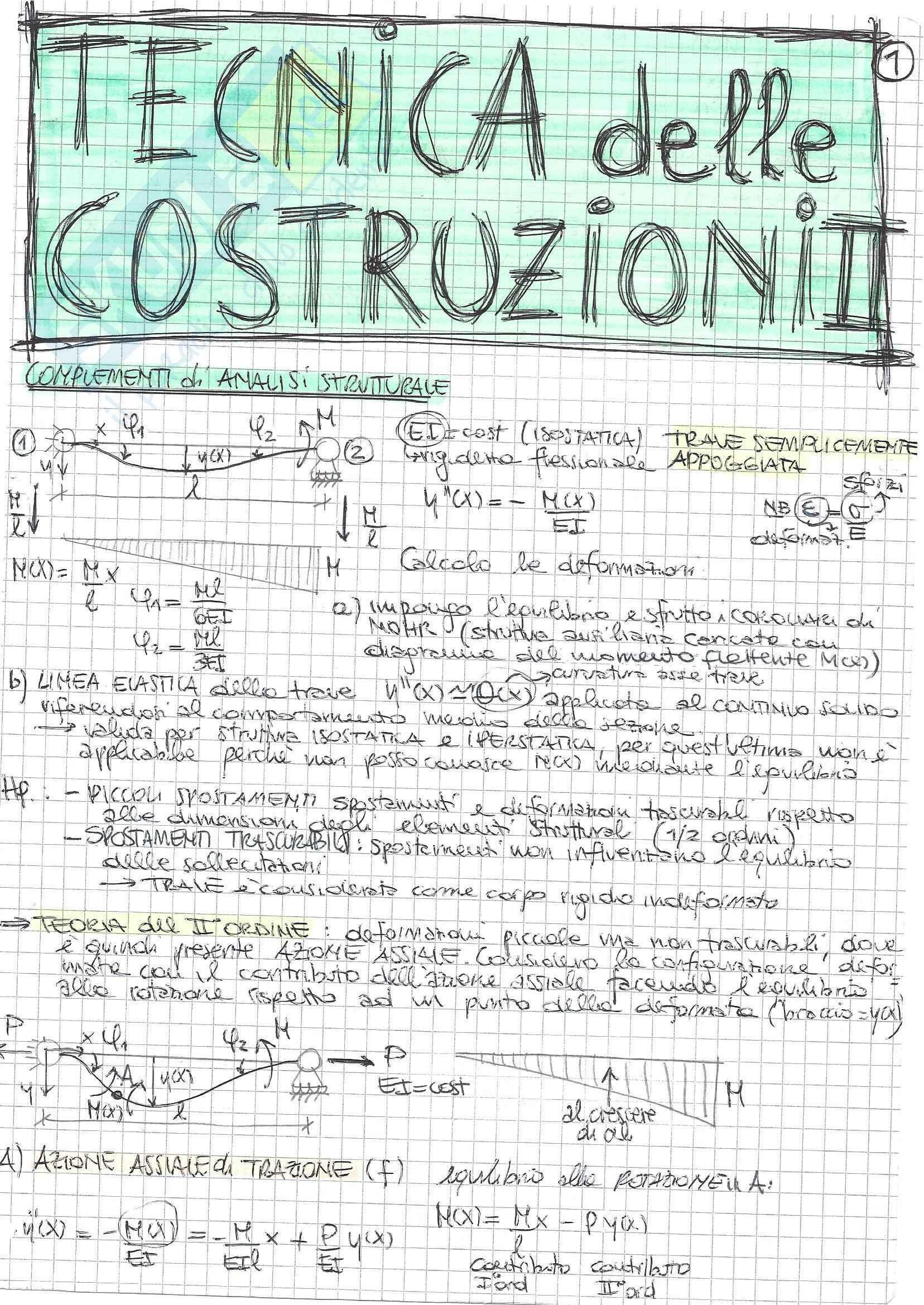 Tecnica delle Costruzioni II - Teoria A