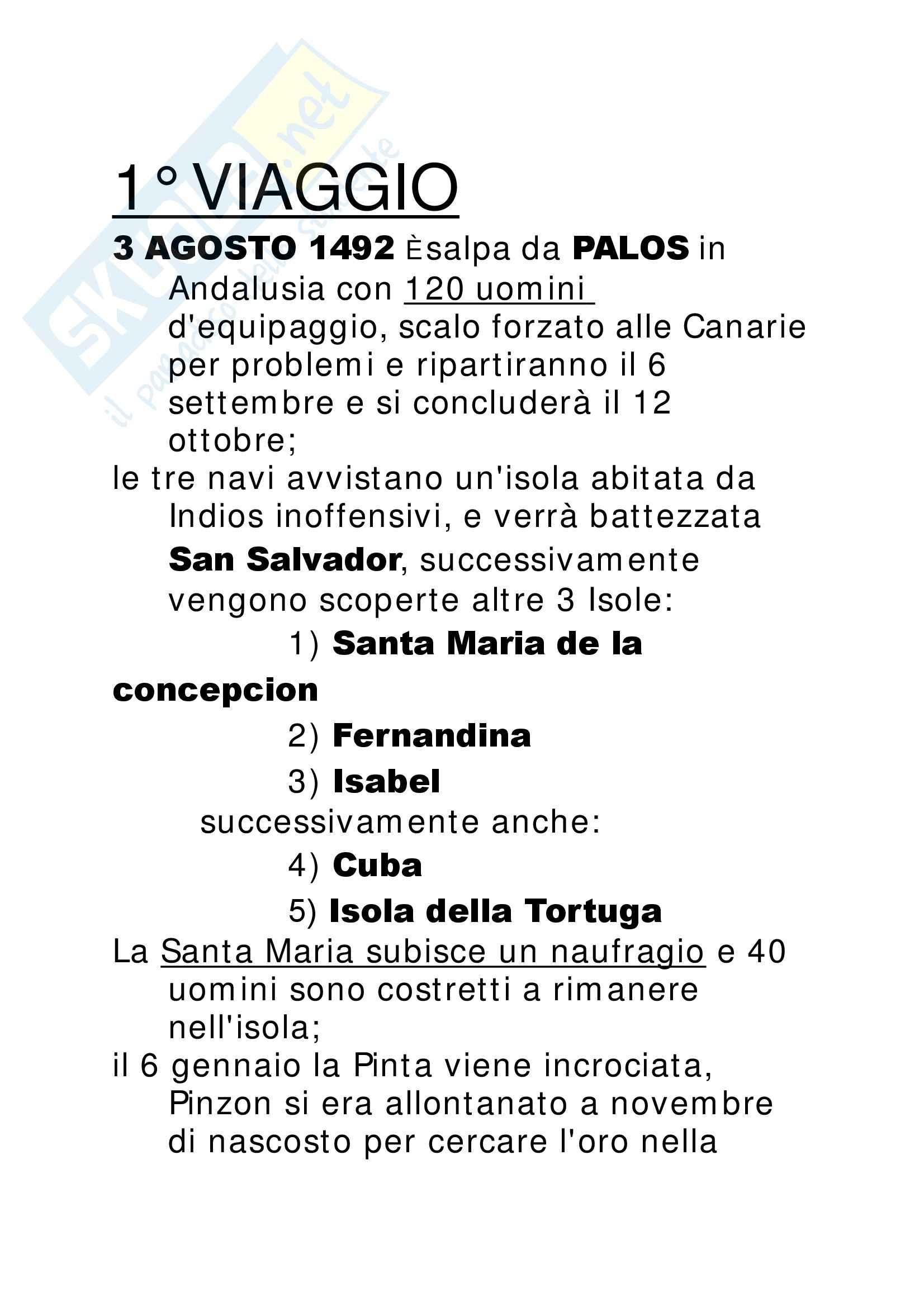 Cristoforo Colombo - Appunti Pag. 2