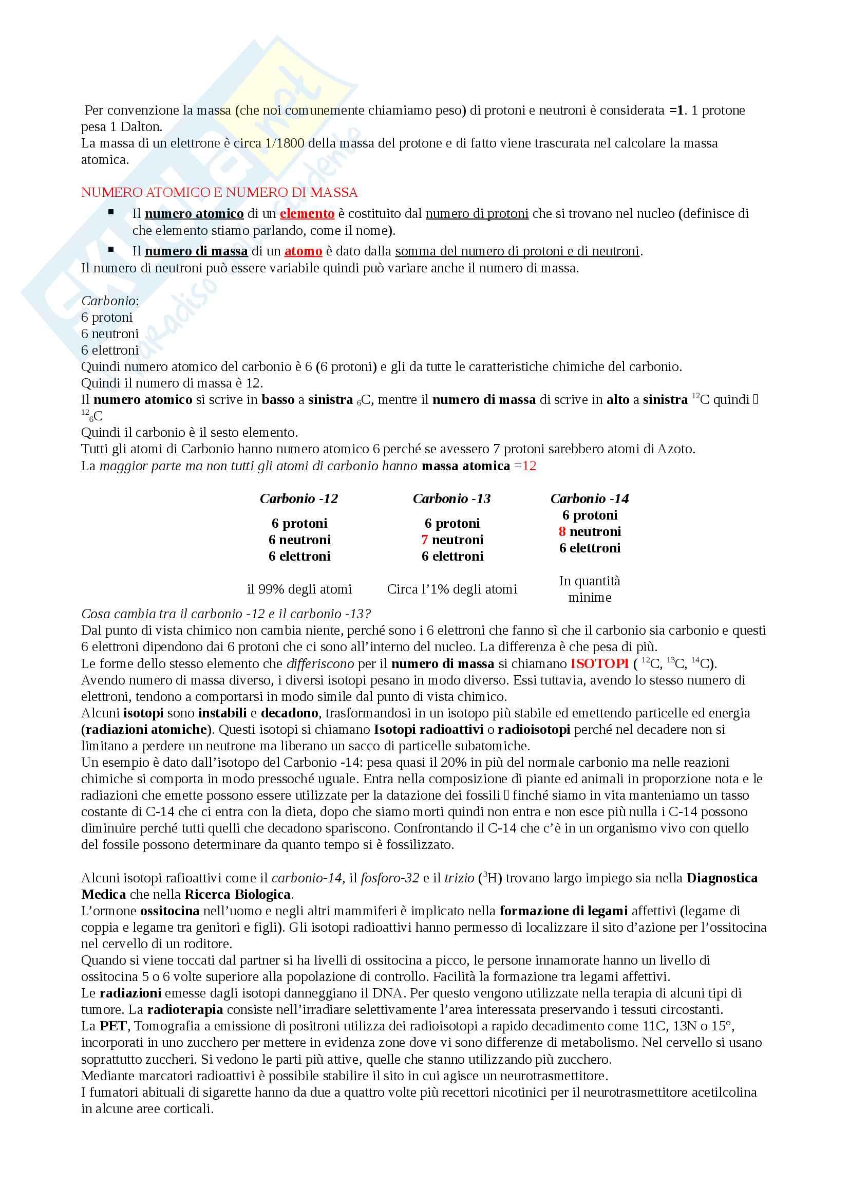 Appunti Biologia-Chimica per superare OFA!! Utile anche per superare il Test d'ingresso Pag. 2