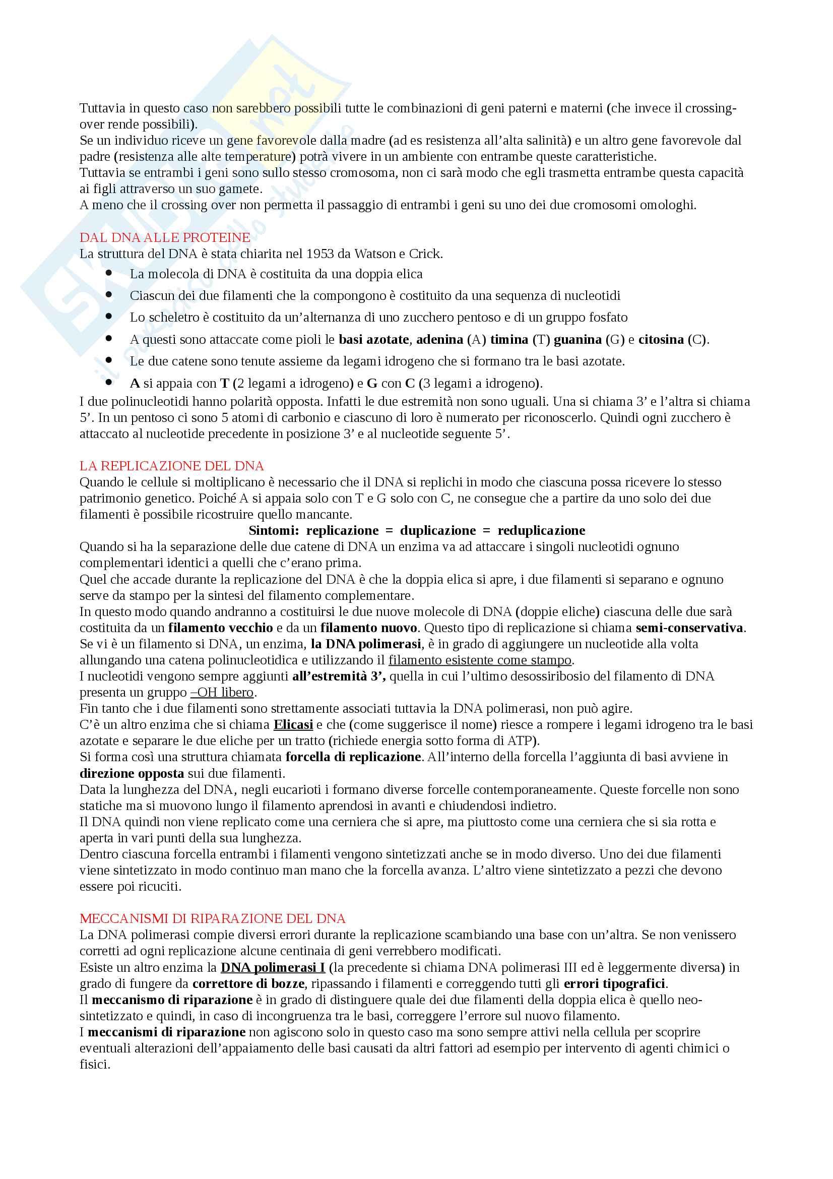 Appunti Biologia-Chimica per superare OFA!! Utile anche per superare il Test d'ingresso Pag. 26