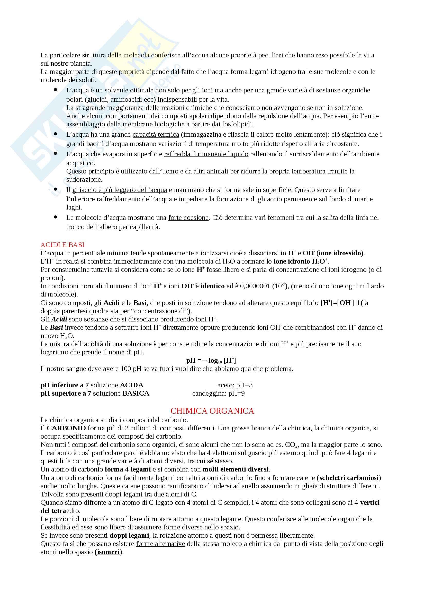 Appunti Biologia-Chimica per superare OFA!! Utile anche per superare il Test d'ingresso Pag. 6