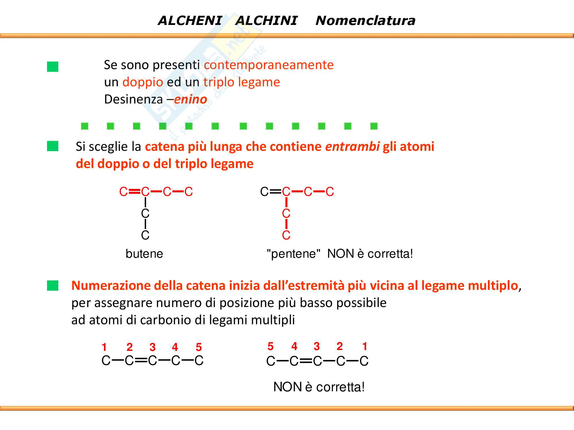 Chimica Organica: Alcheni e Alchini Pag. 11