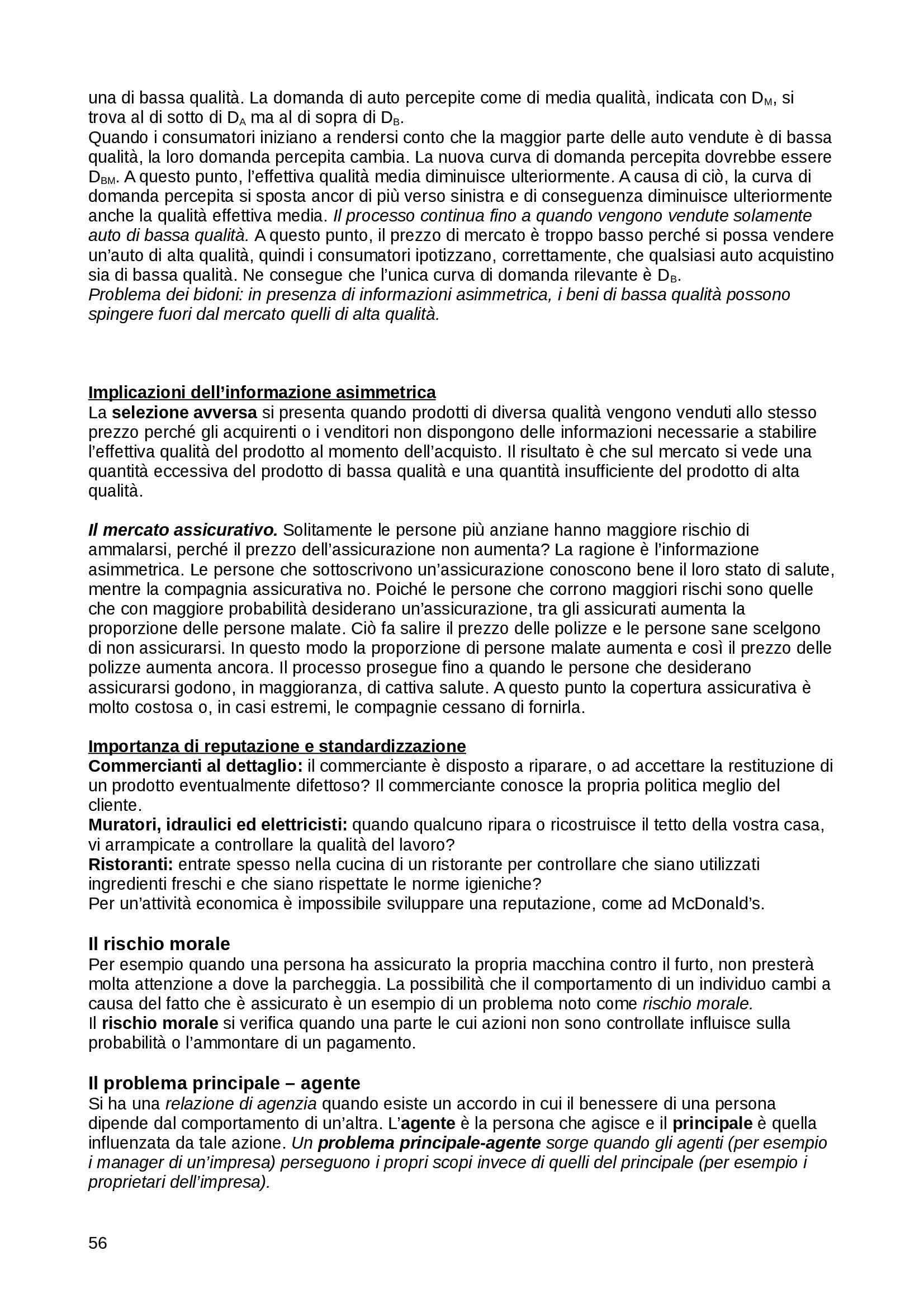 Riassunto esame Microeconomia Microeconomia, Pindyck, Rubinfeld - parte seconda, prof. Orsini Pag. 56
