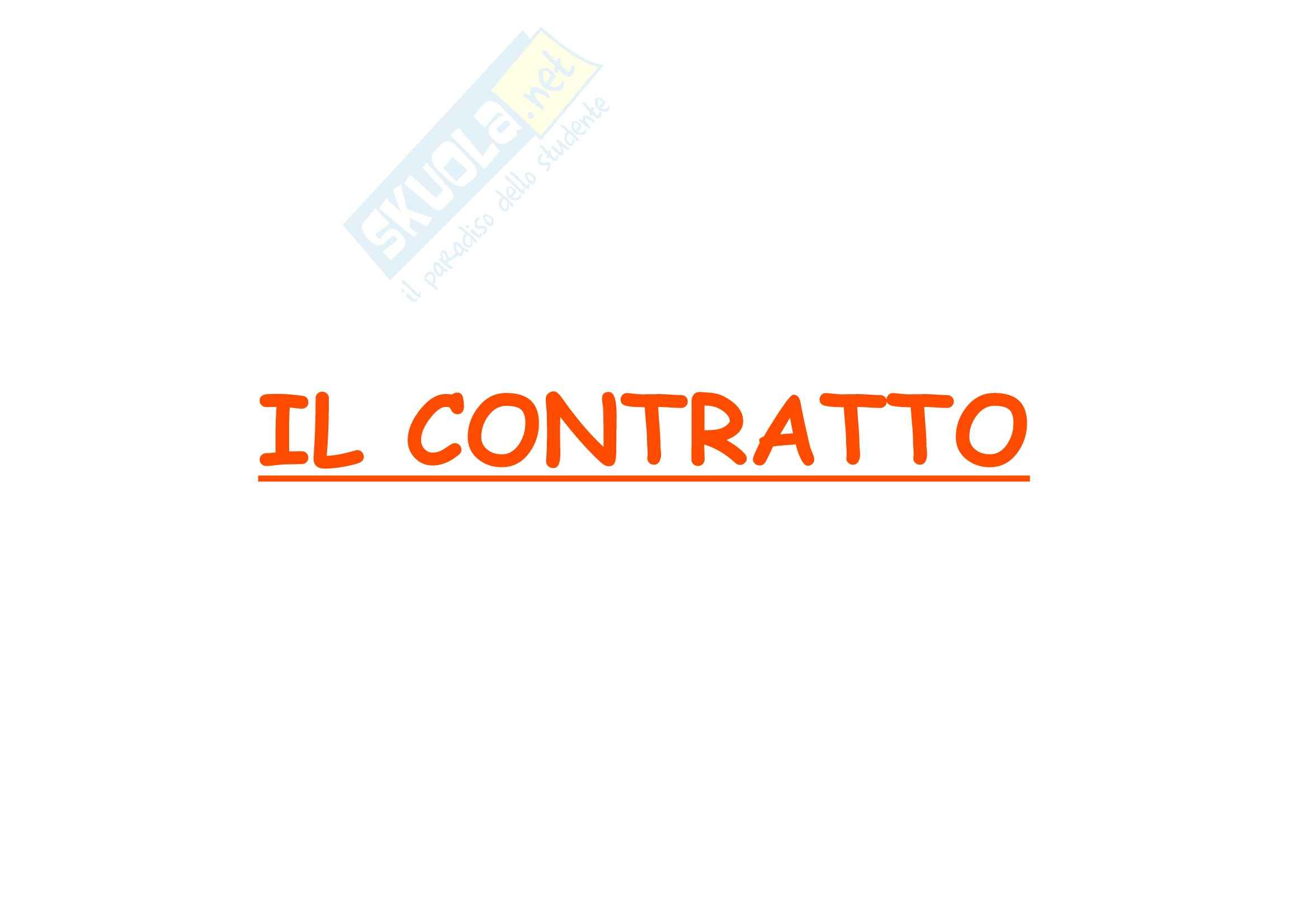 Diritto privato 1 - Il contratto