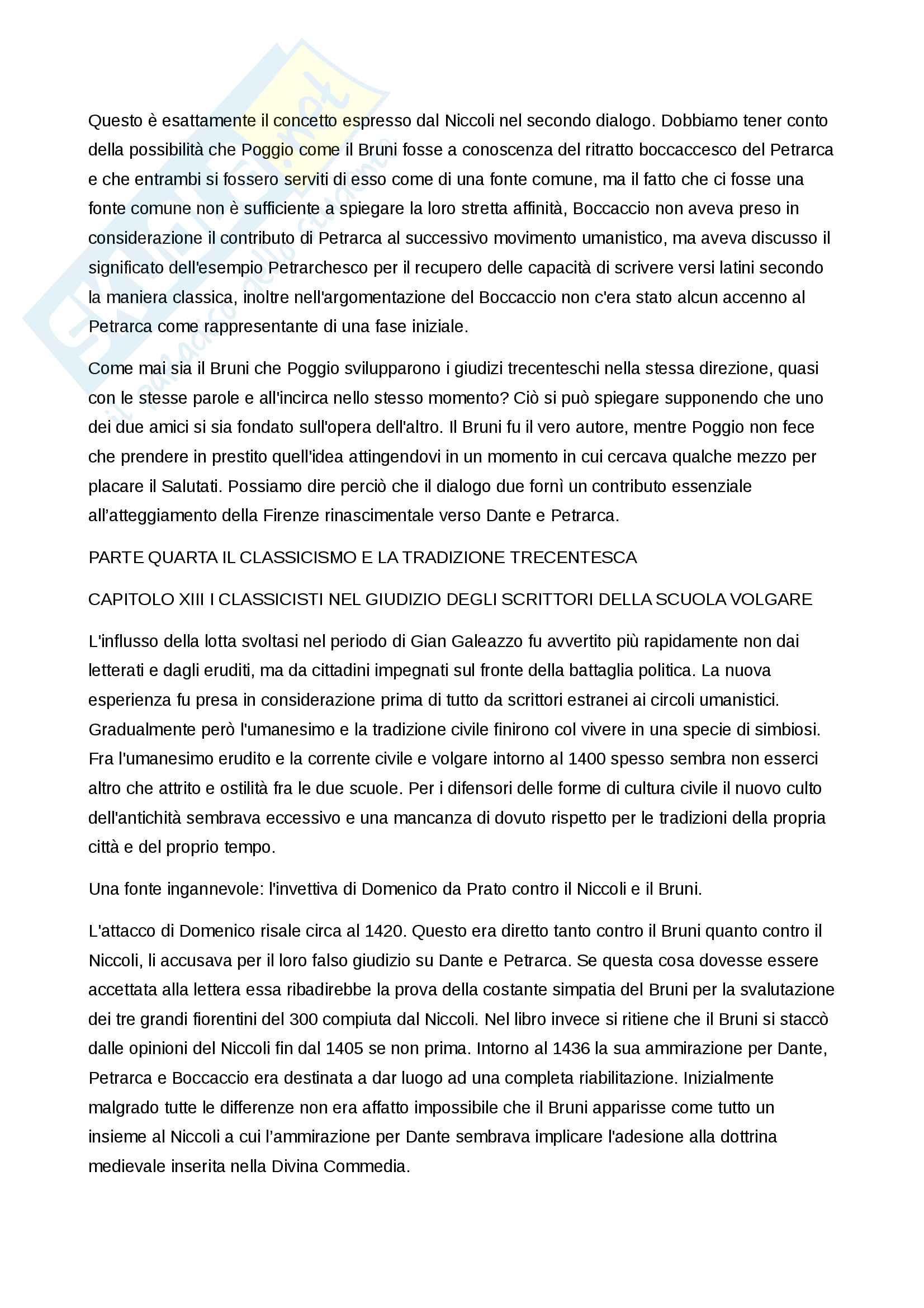 Riassunto esame Letteratura italiana del rinascimento, prof. Venier, libro consigliato Baron, La crisi del primo Rinascimento italiano. Umanesimo civile e libertà repubblicana in un'età di classicismo e di tirannide Pag. 31