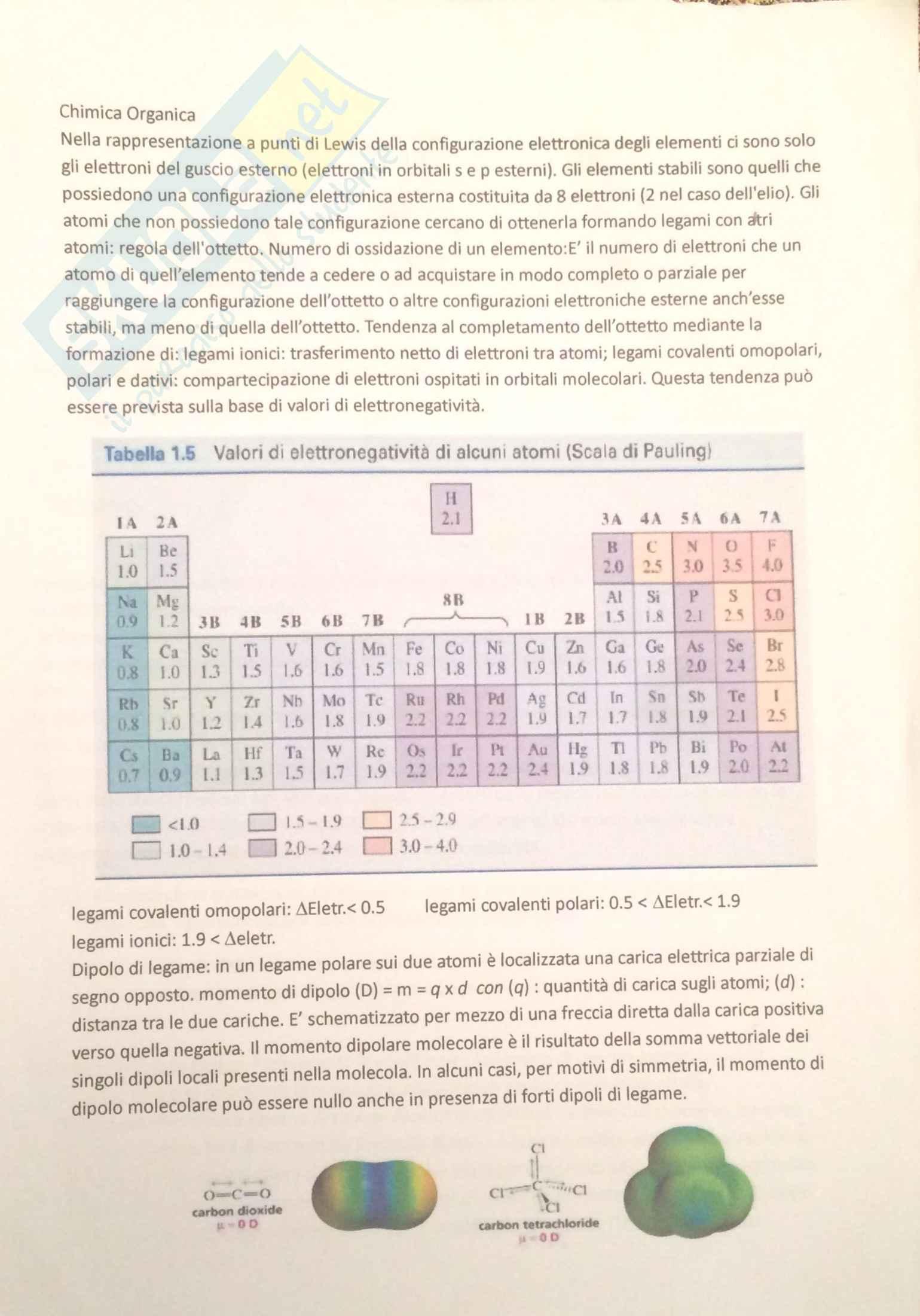 Appunti Chimica Organica parte 1