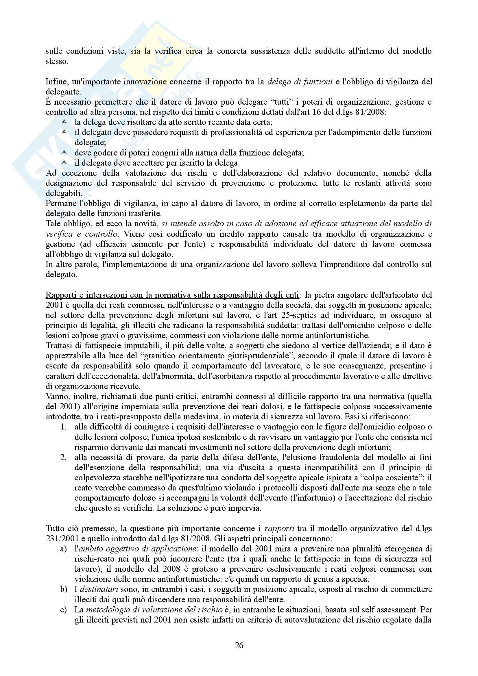 Riassunto esame Diritto processuale penale, prof. Corso, libro consigliato Manuale della responsabilità degli enti, Presutti, Bernasconi Pag. 26