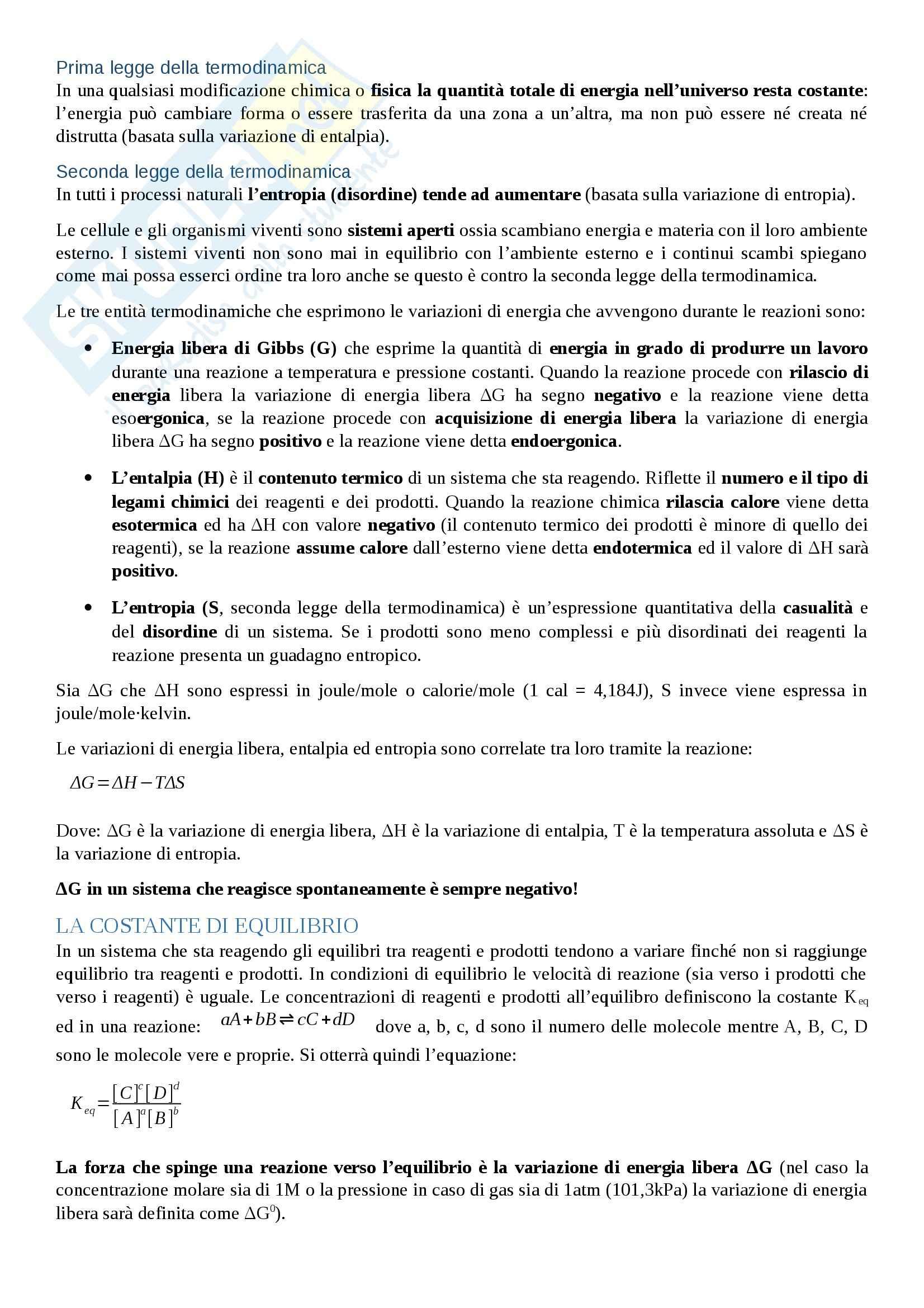 Biochimica - metabolismo cellulare Pag. 2
