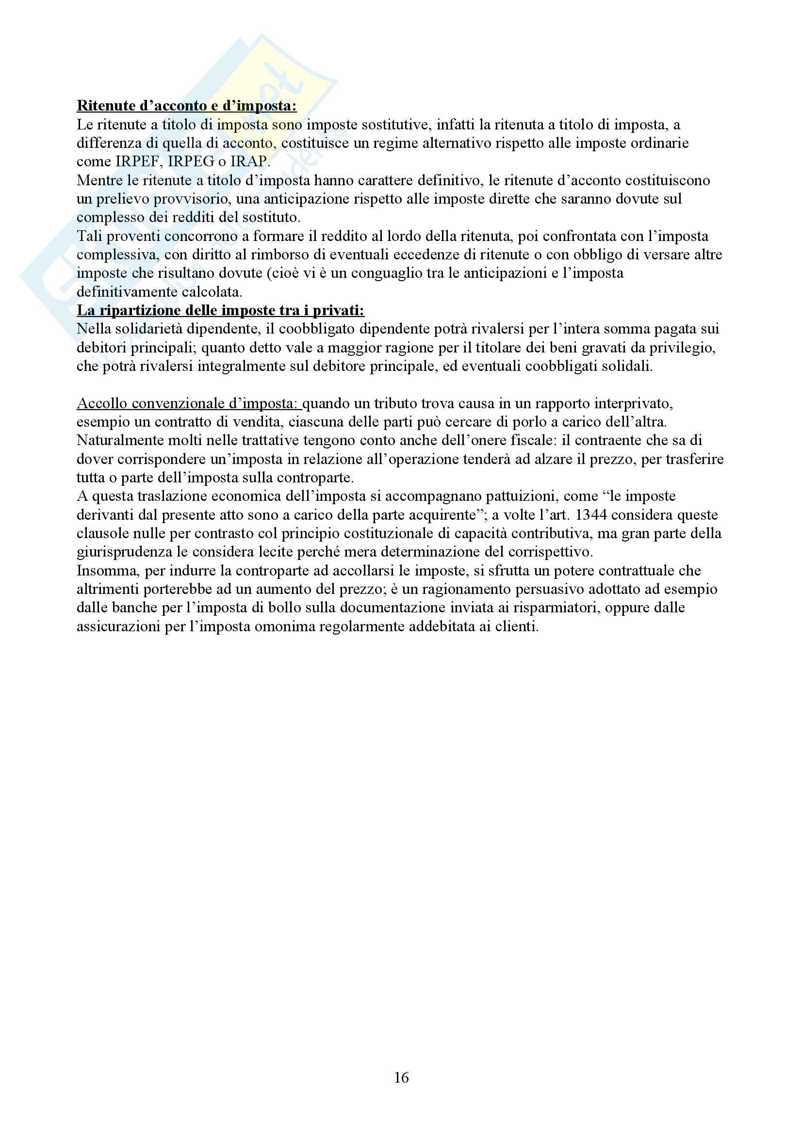 Nozioni di diritto tributario Pag. 16