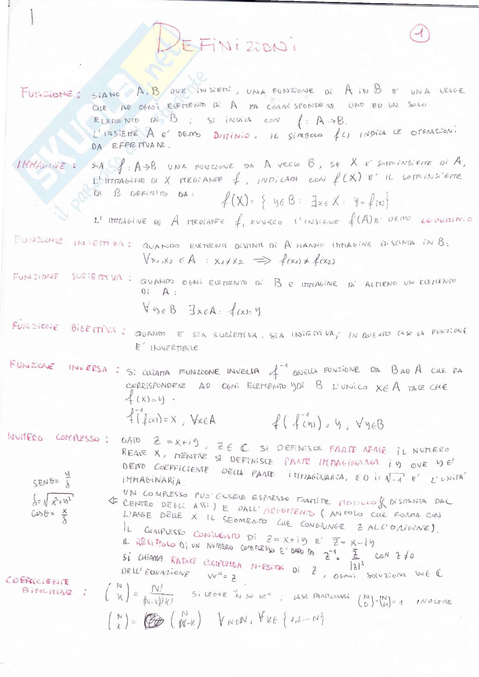 appunto C. Berselli Analisi matematica I