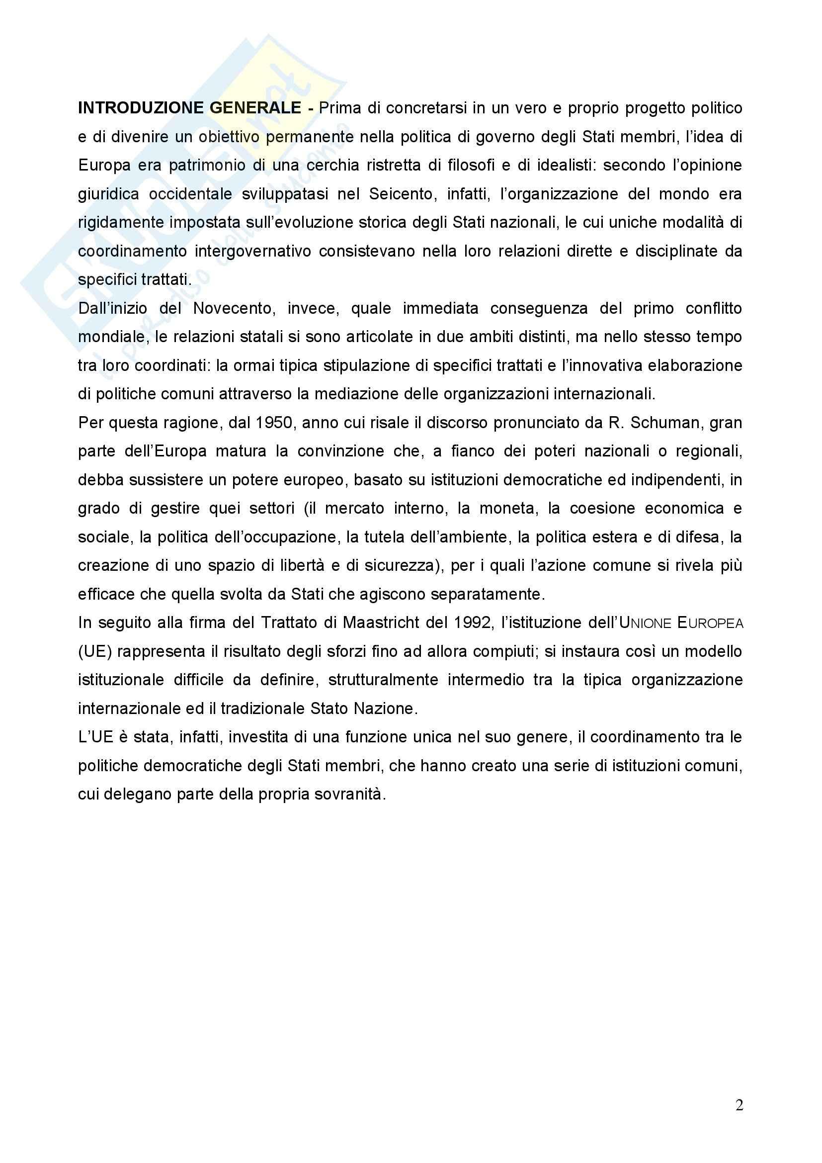 Diritto dell'Unione Europea - la Dichiarazione di Laeken e aspetti principali dell'Unione Europea Pag. 2