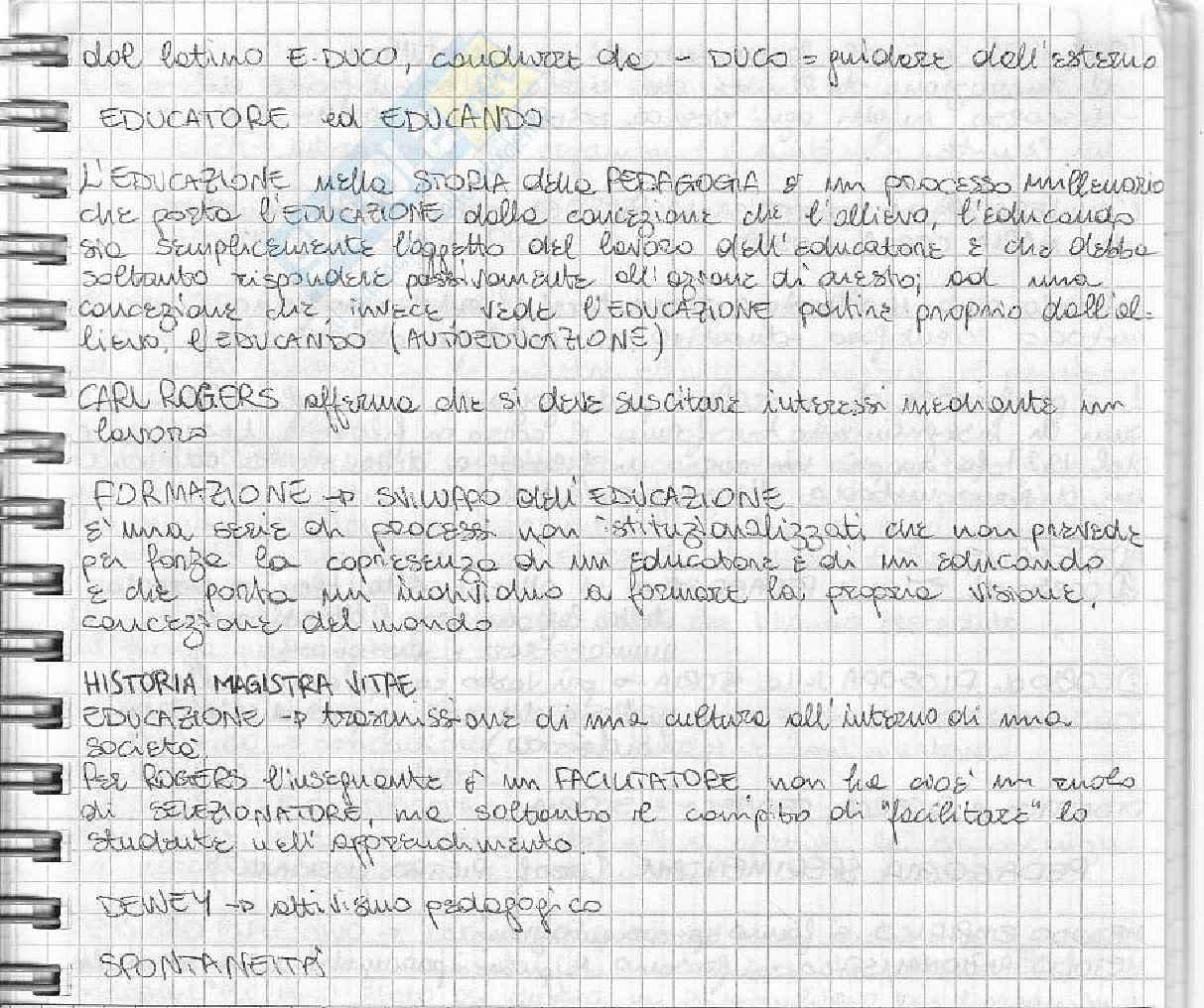Storia della pedagogia dal 1700 a oggi Pag. 2