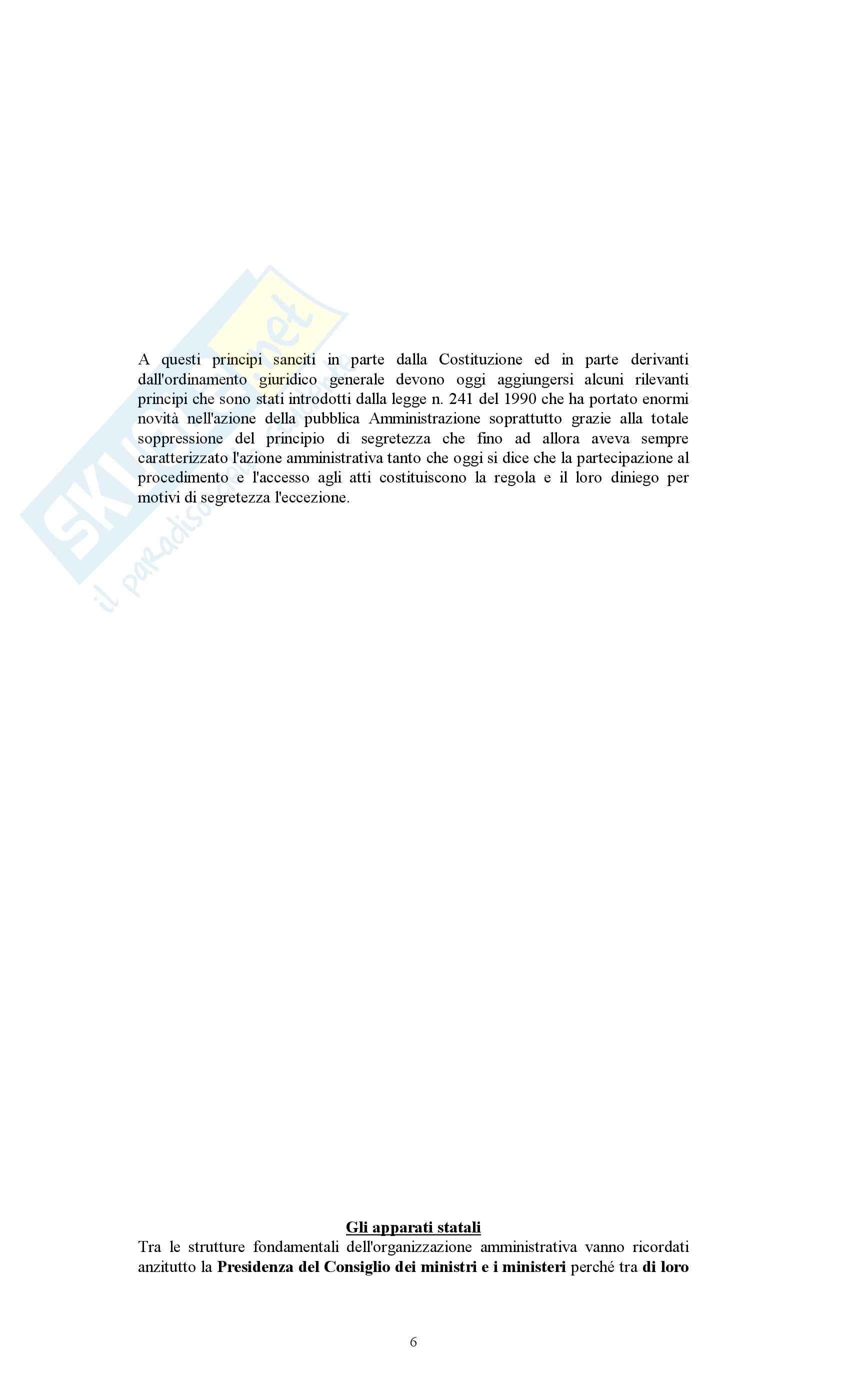 Diritto amministrativo - Appunti Pag. 6