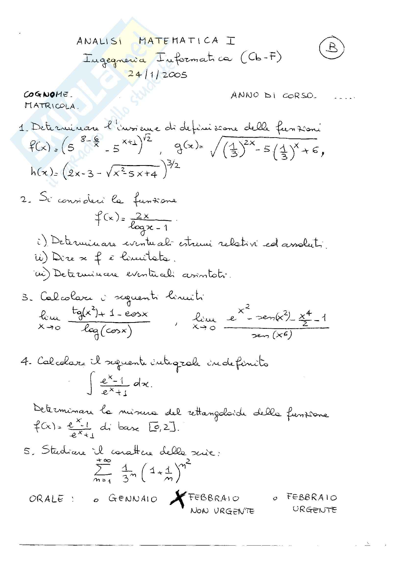 esercitazione A. Mercaldo Analisi 1