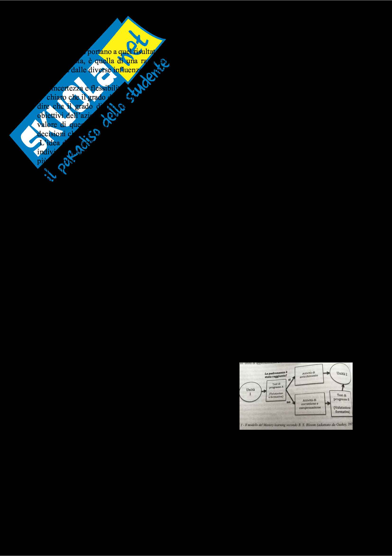 Riassunto esame Progettazione nei contesti educativi e formativi, prof. Cecconi, libro consigliato Intento e azione nella progettazione educativa Pag. 2