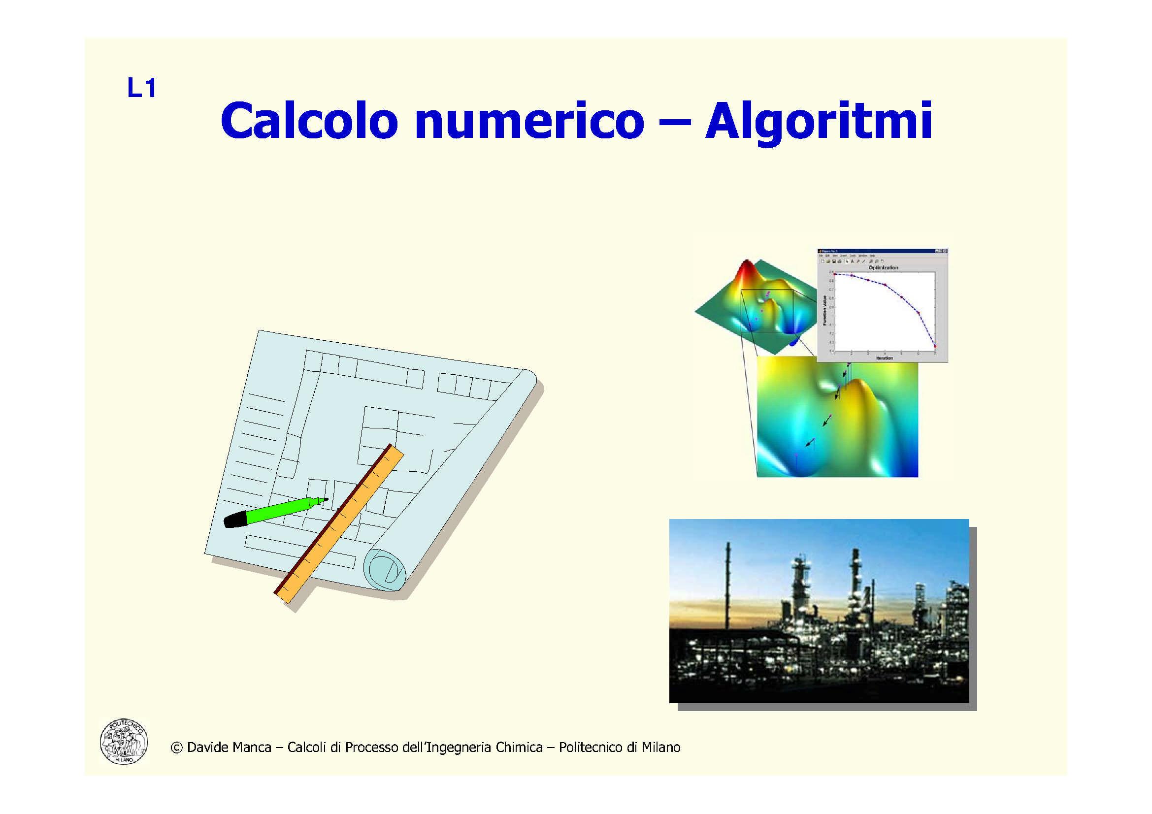 Calcolo numerico - Introduzione