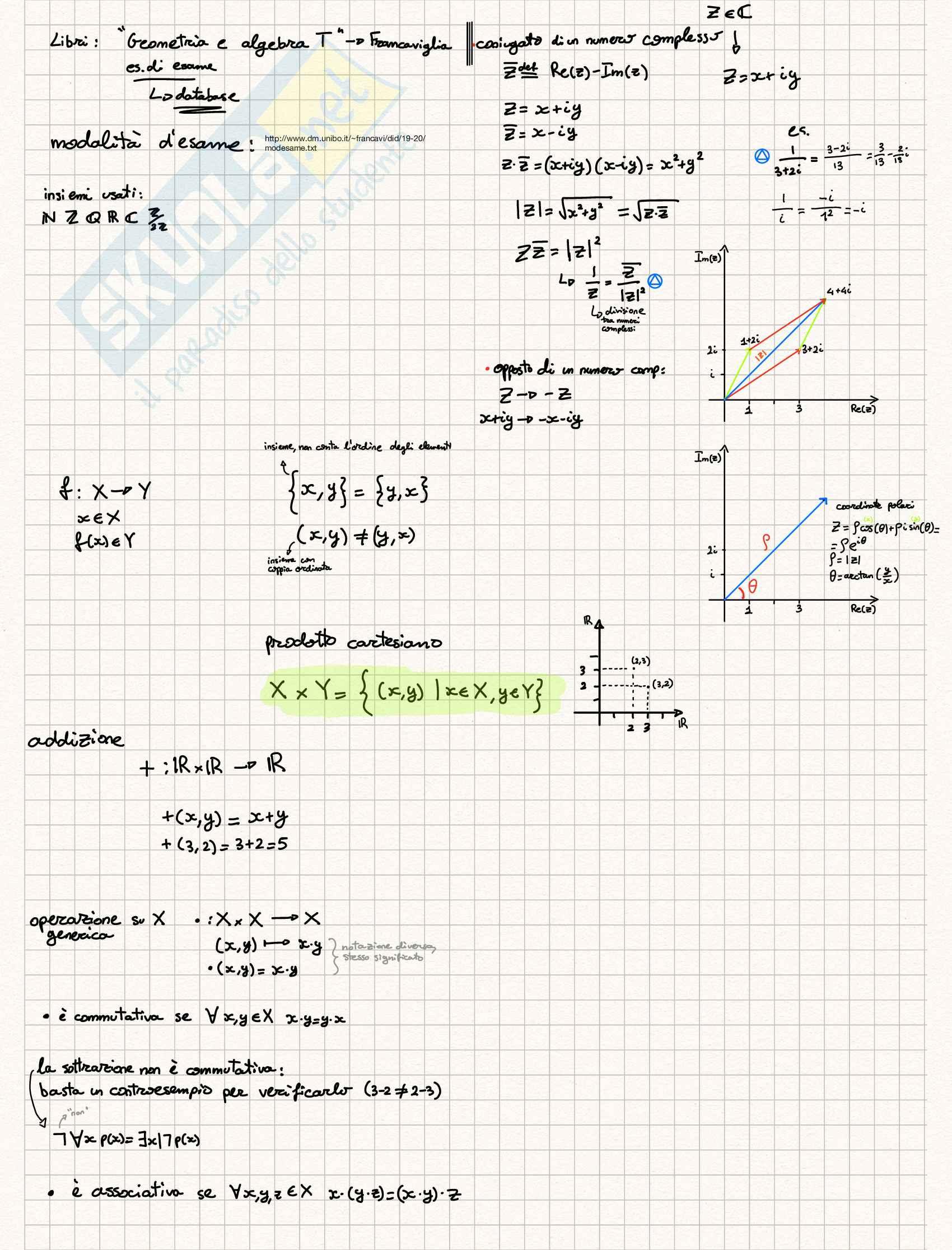 Appunti Geometria e Algebra T