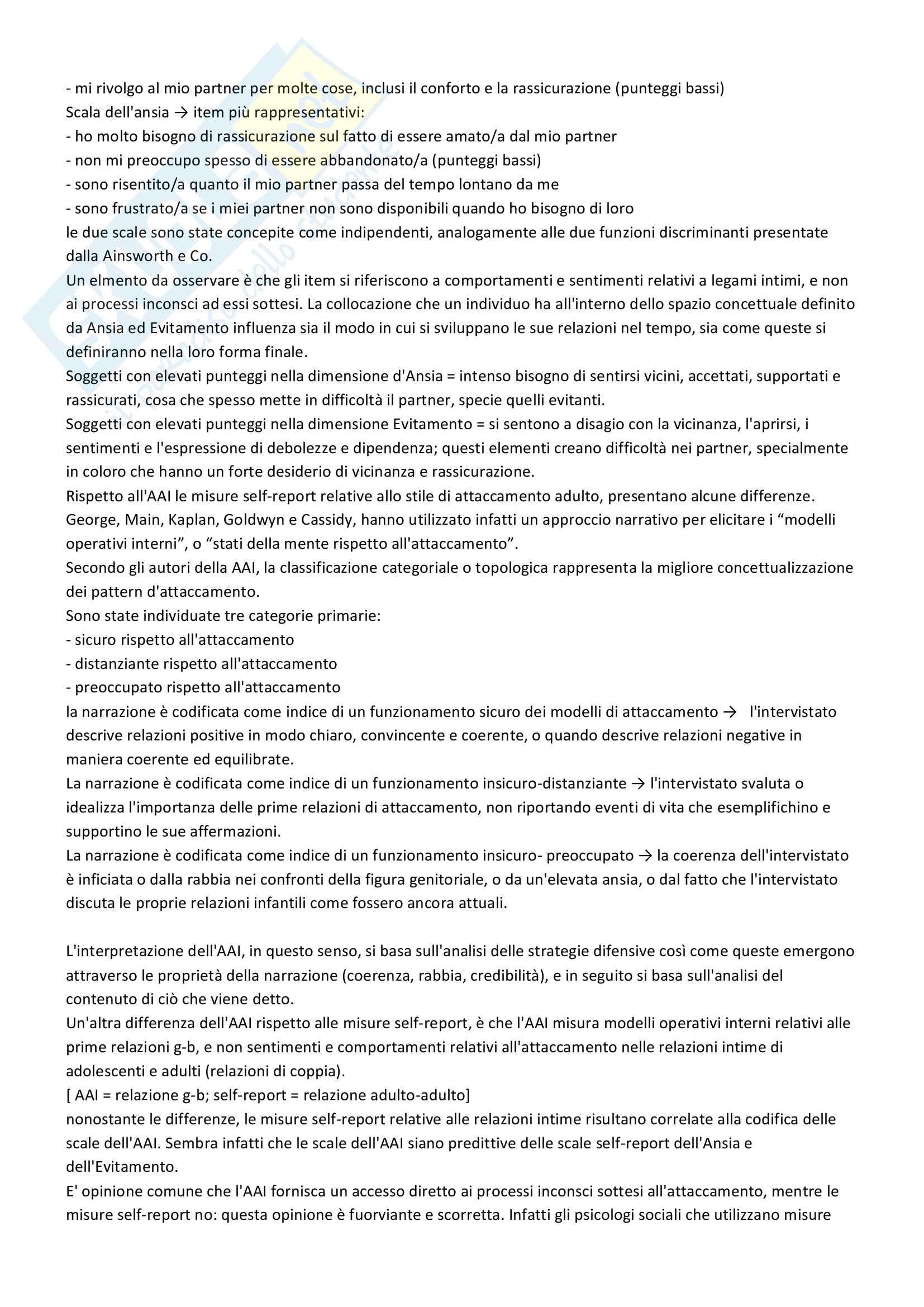 Riassunto esame Psicologia del ciclo di vita, prof. Maggiolini e Riva Crugnola, libro consigliato La relazione genitore-bambino, Cristina Riva Crugnola Pag. 26