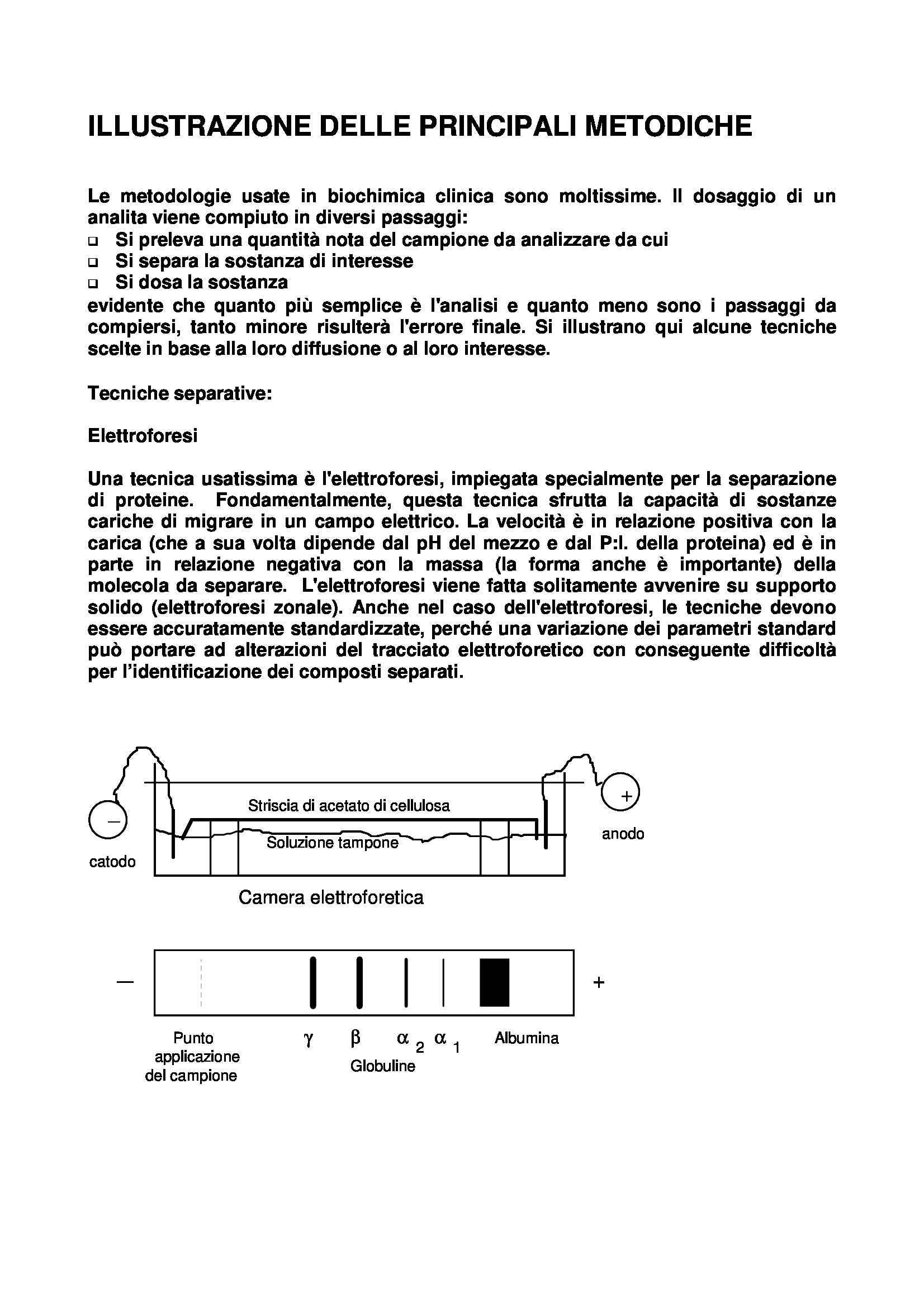 Biochimica clinica - Metodiche principali