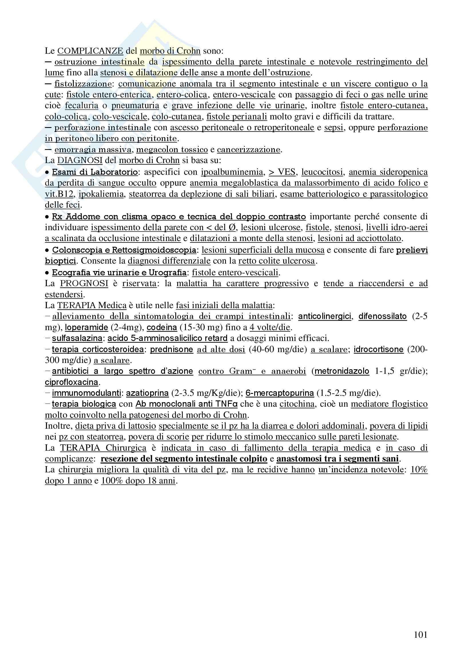 Chirurgia - chirurgia generale - Appunti Pag. 101
