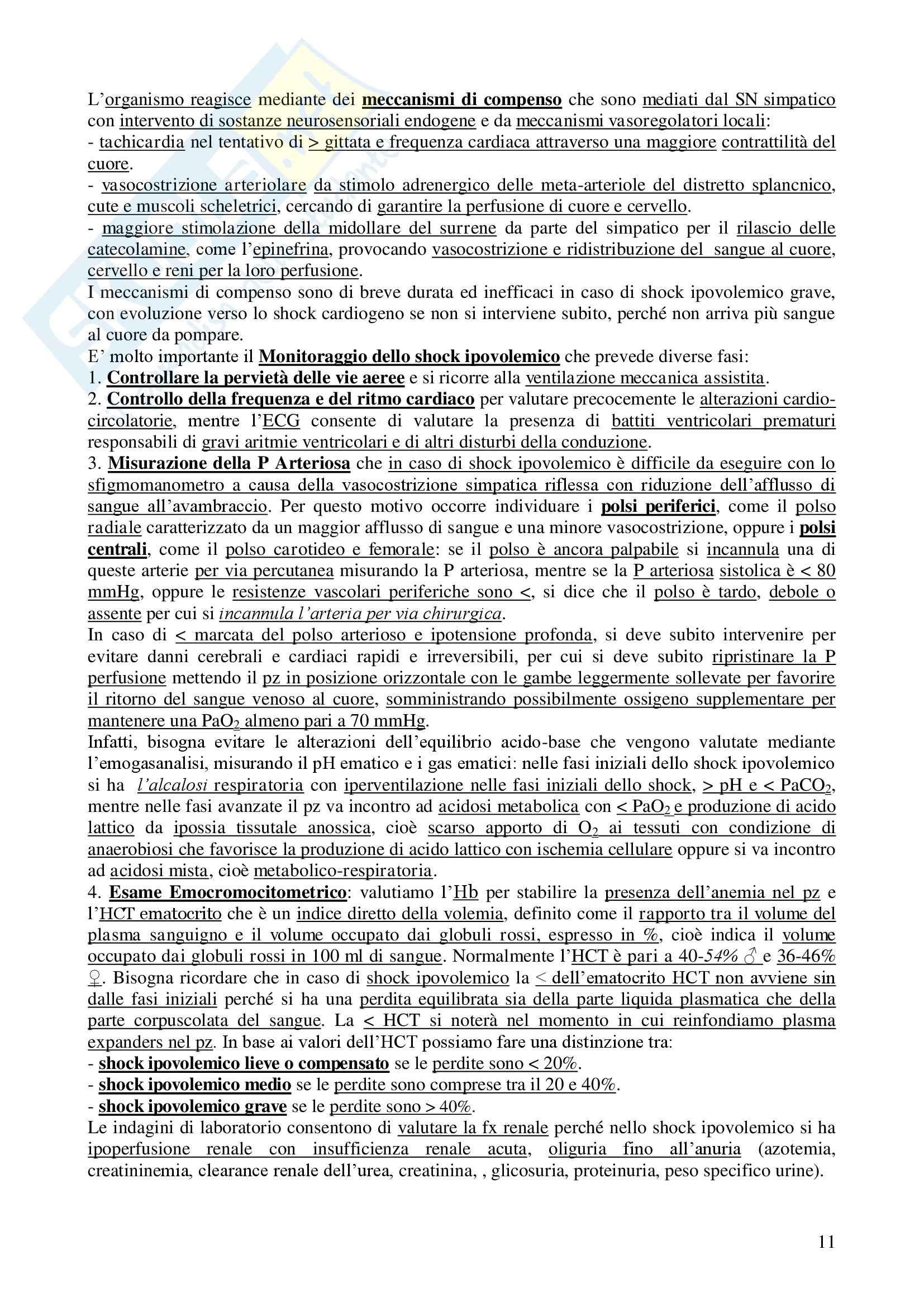 Chirurgia - chirurgia generale - Appunti Pag. 11