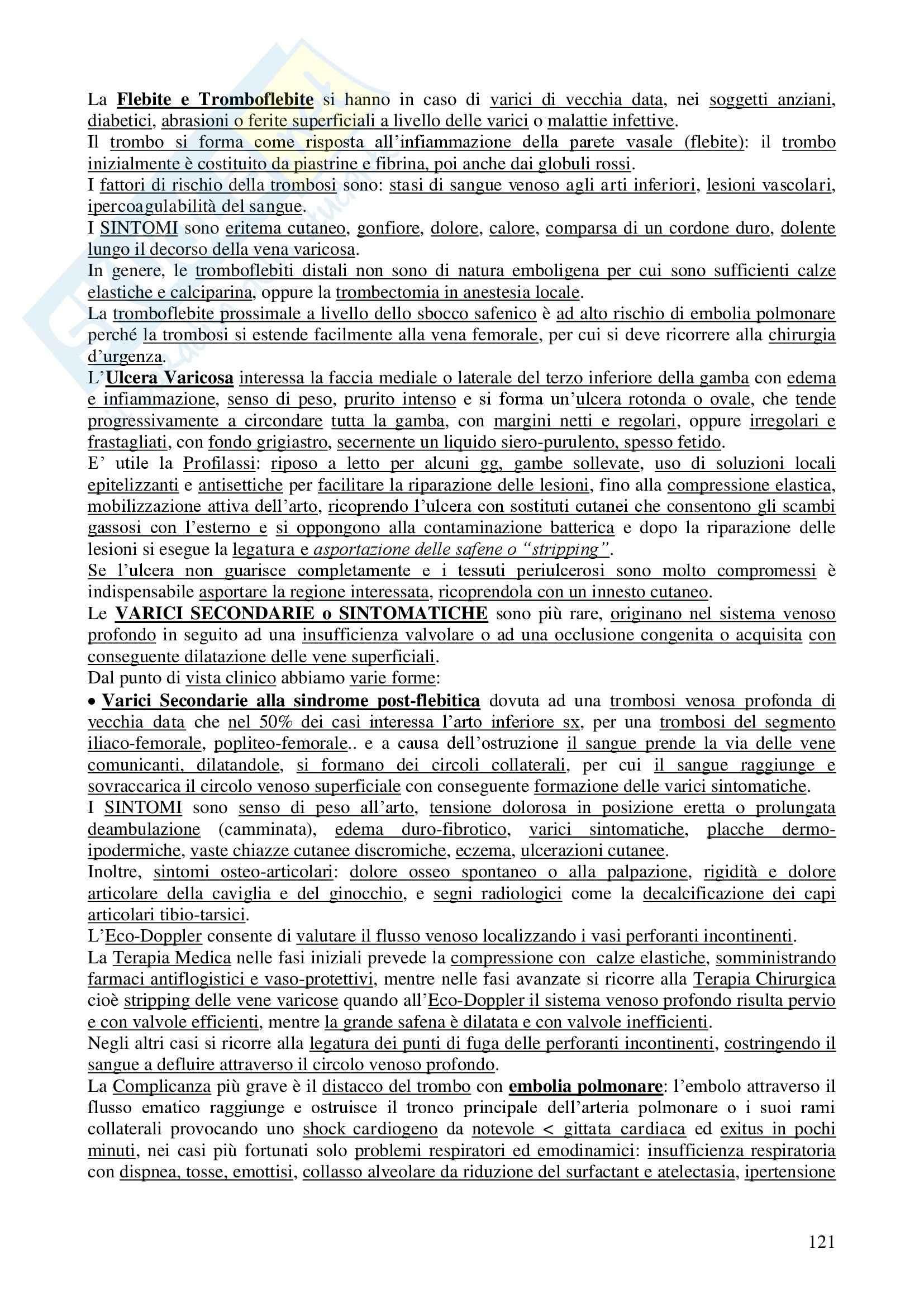 Chirurgia - chirurgia generale - Appunti Pag. 121