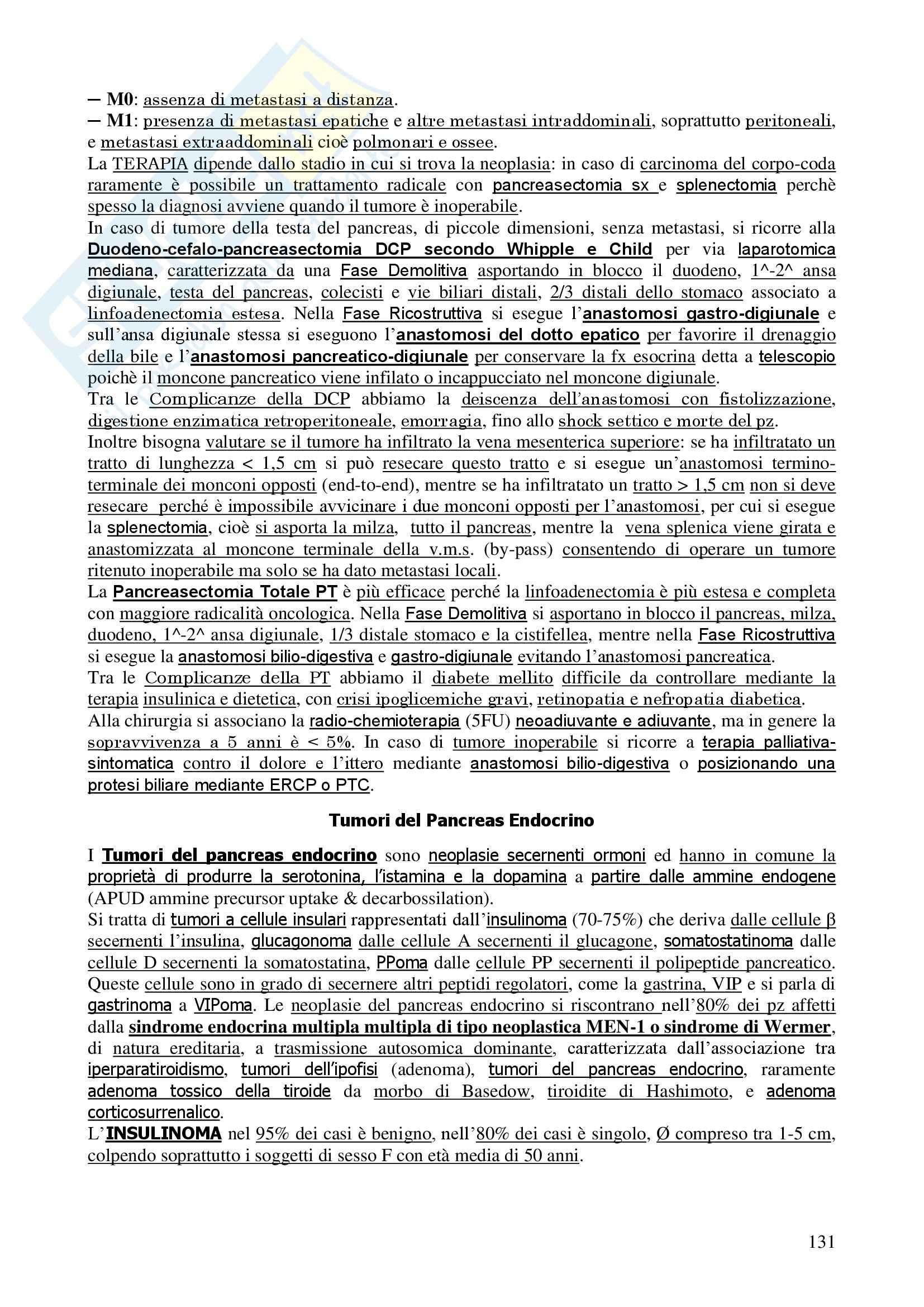 Chirurgia - chirurgia generale - Appunti Pag. 131