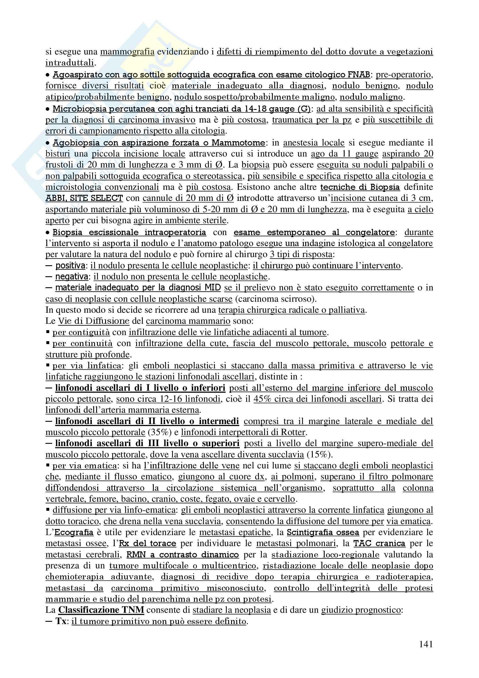 Chirurgia - chirurgia generale - Appunti Pag. 141