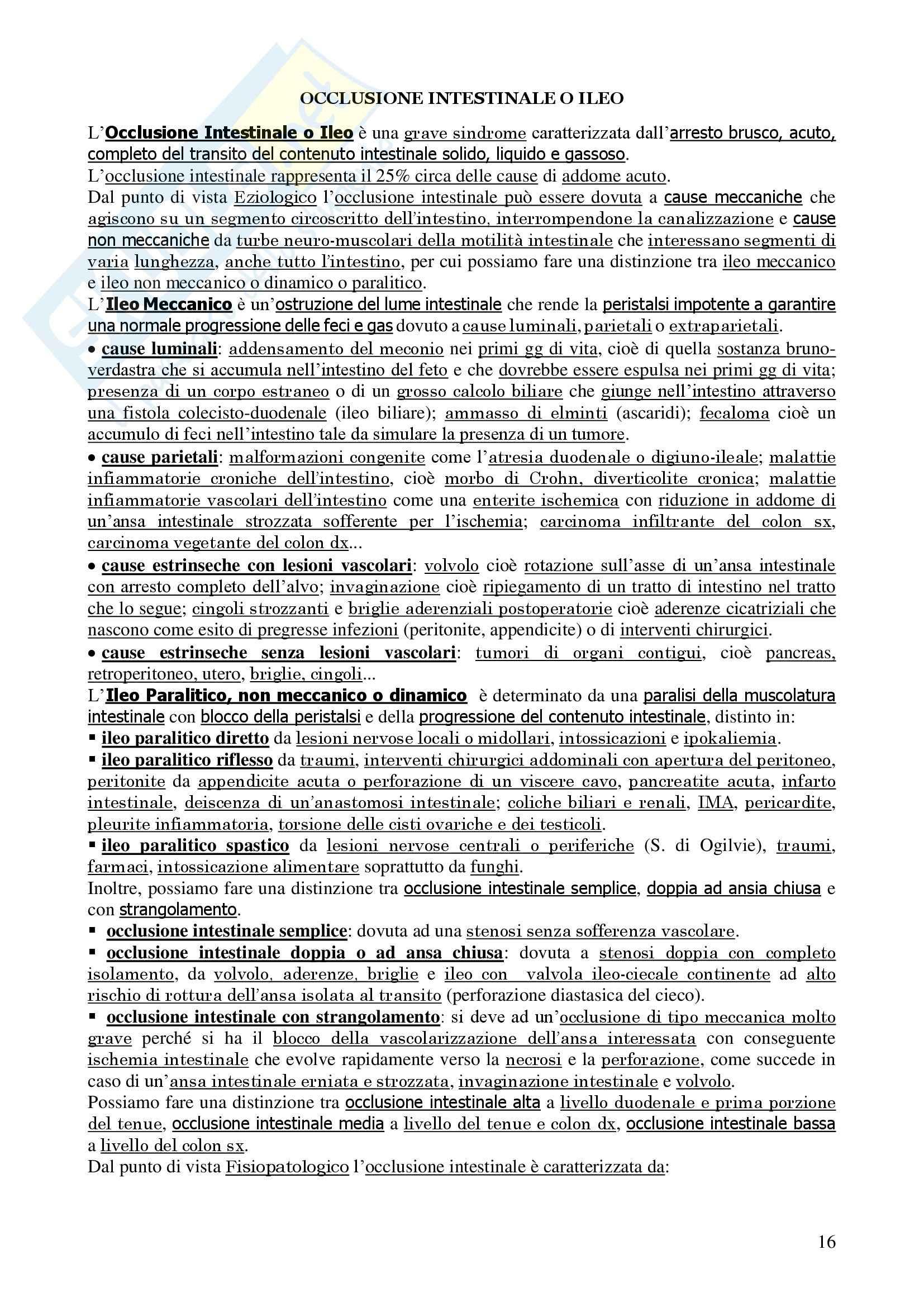 Chirurgia - chirurgia generale - Appunti Pag. 16