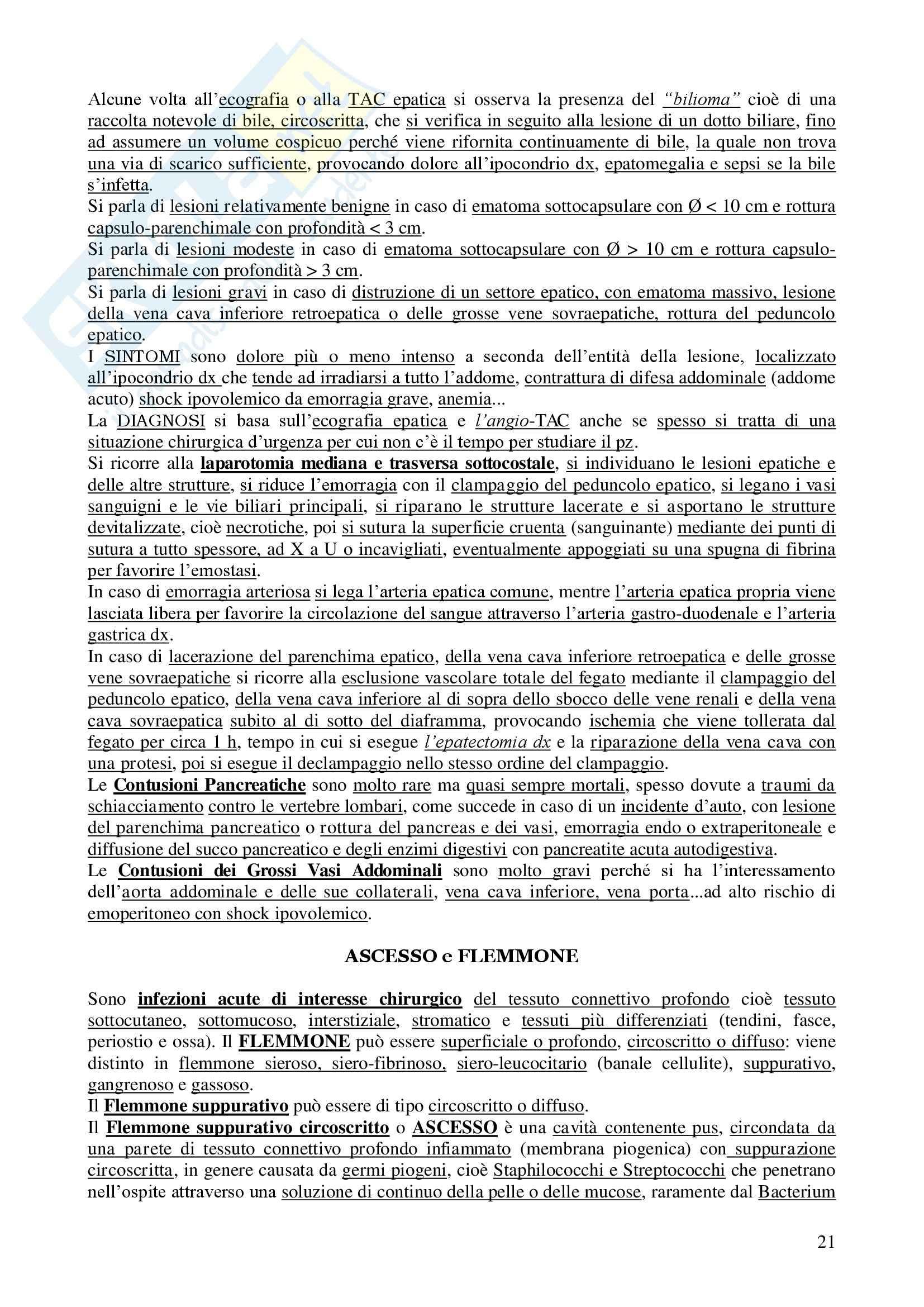 Chirurgia - chirurgia generale - Appunti Pag. 21